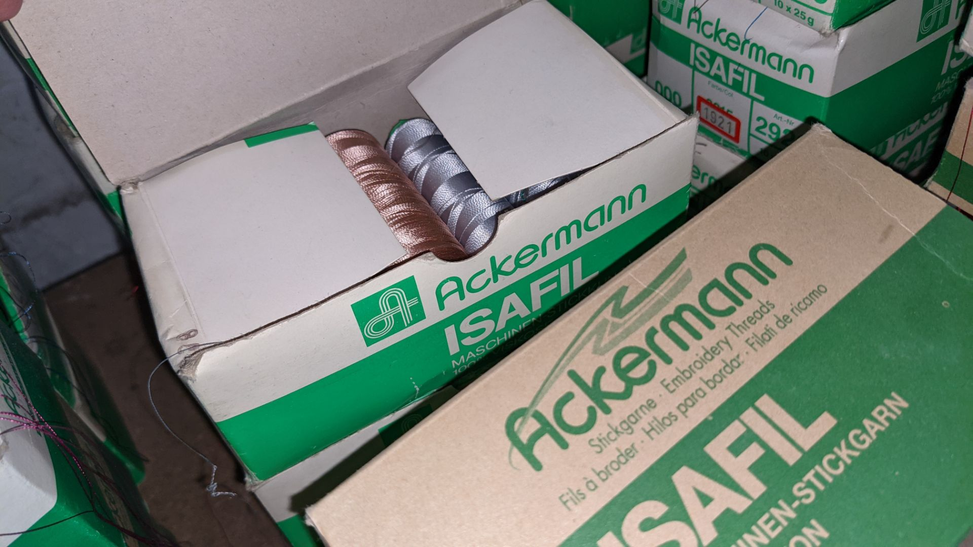 16 boxes of Ackermann Isafil viscose/rayon embroidery thread - Image 9 of 10