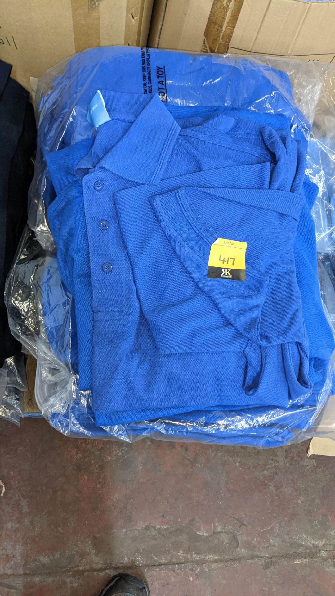 Approx 75 off assorted shades of blue polo shirts - Image 3 of 6