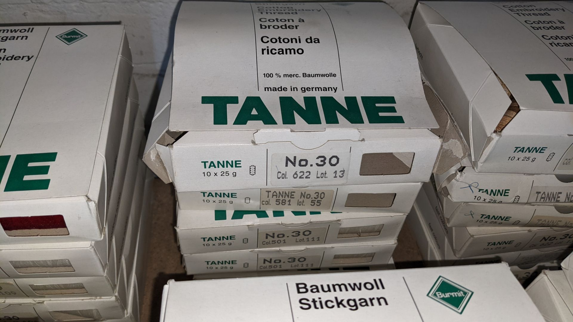 18 boxes of Madeira Tanne (Burmit) cotton embroidery thread - Image 5 of 8