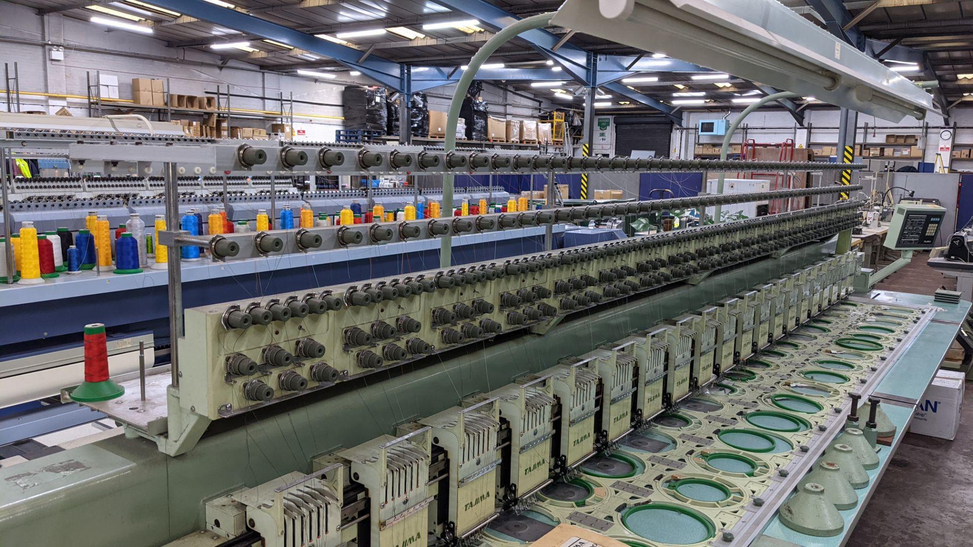Tokai Tajima electronic 20 head automatic embroidery machine model TMEF-H620 - Image 12 of 25