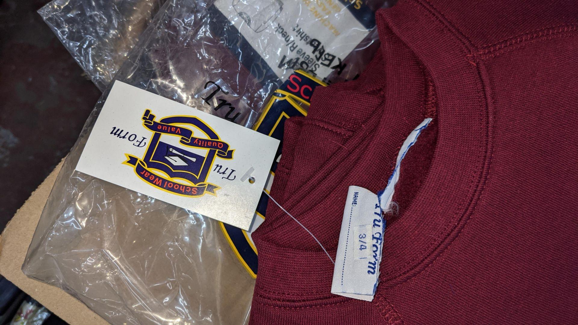 Approx 36 off children's burgundy sweatshirts - 1 large box - Image 4 of 4