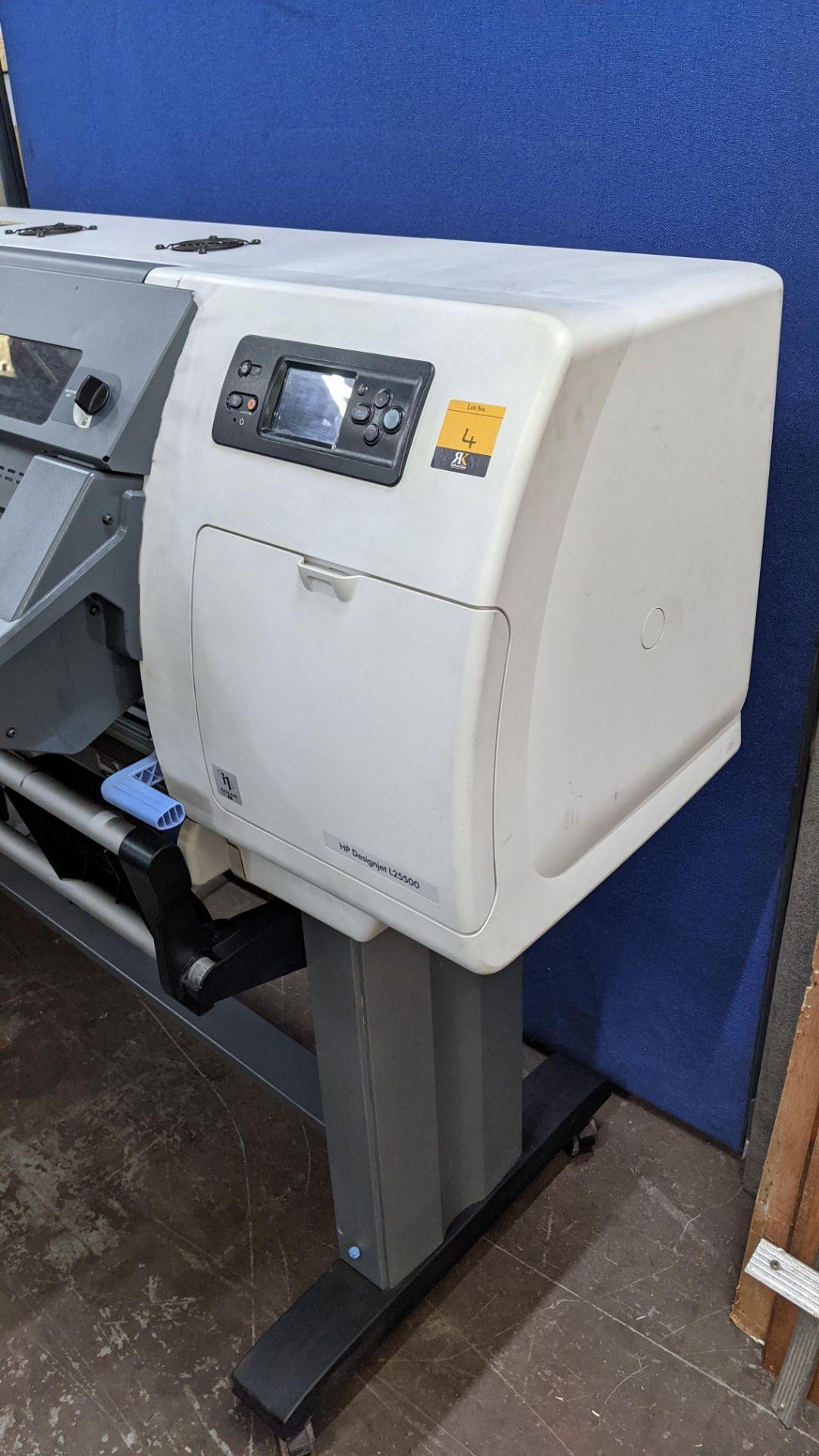 HP DesignJet L25500 wide format printer - Image 6 of 9