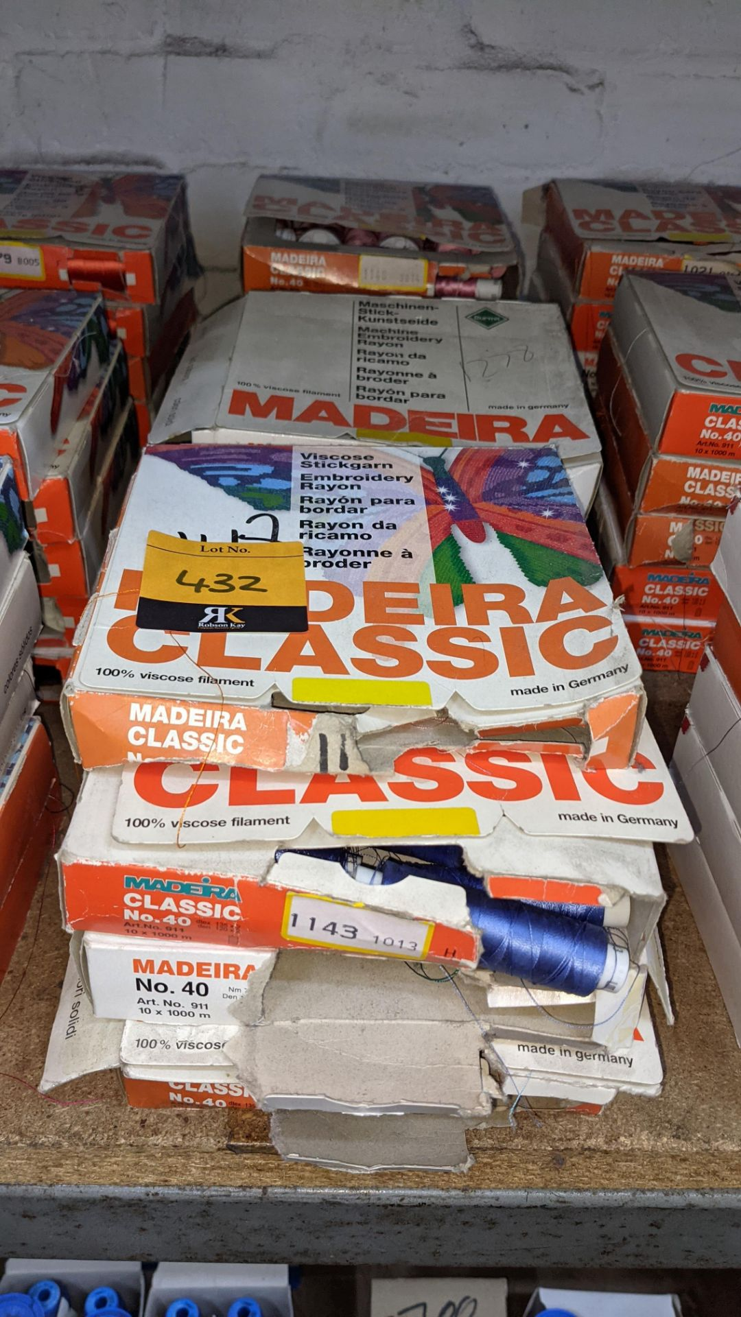 15 assorted boxes of Madeira Classic No. 40 embroidery rayon thread