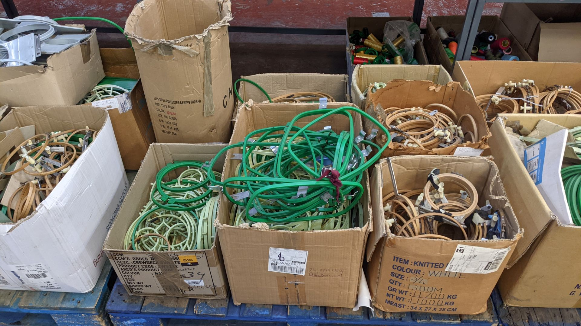 The contents of a pallet of assorted embroidery machine frames & similar - this lot consists of 7 as - Image 2 of 9