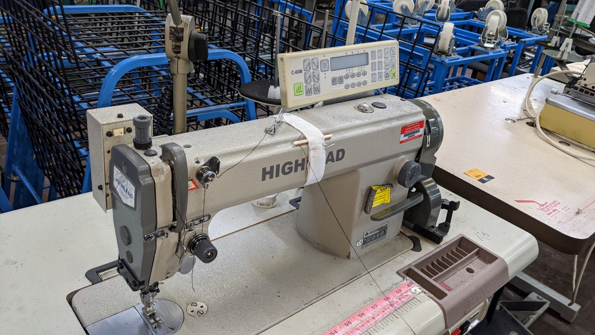 Highlead model GC128-M-D3 sewing machine with model C-60M digital controller - Image 10 of 18