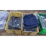 Approx 21 off blue work trousers - 2 boxes