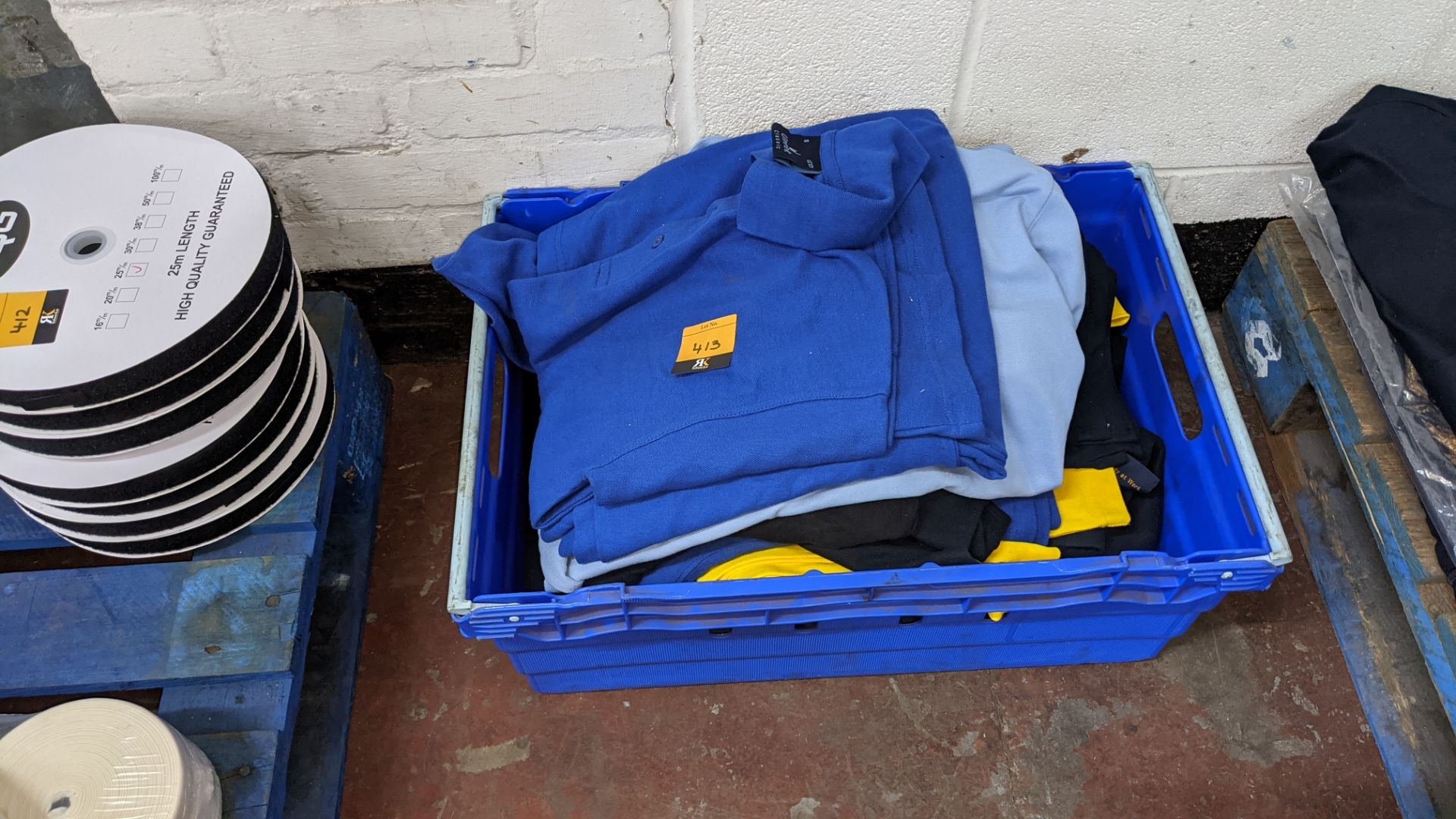 Quantity of assorted polo shirts