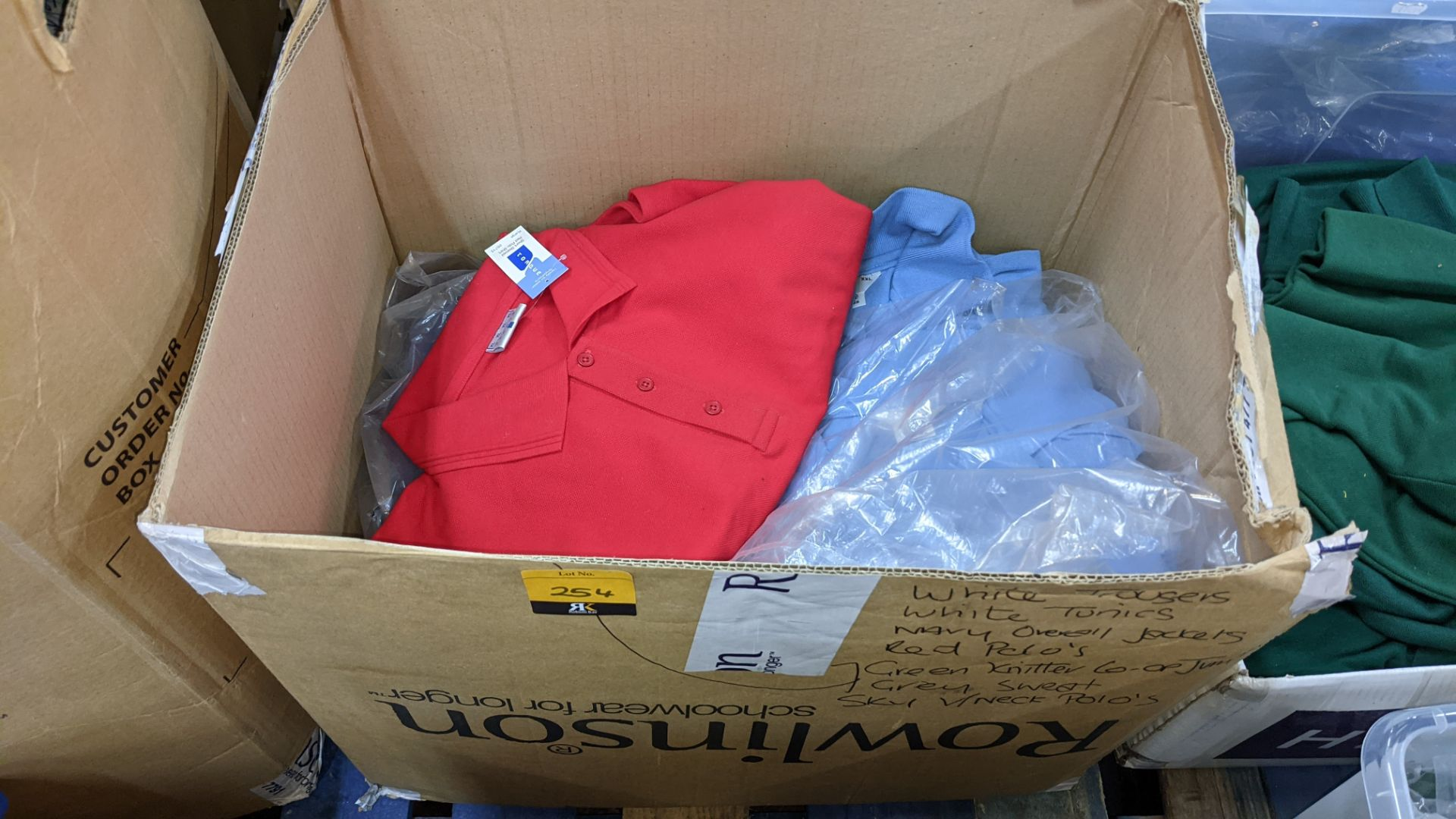 20 assorted polo shirts - 1 large box