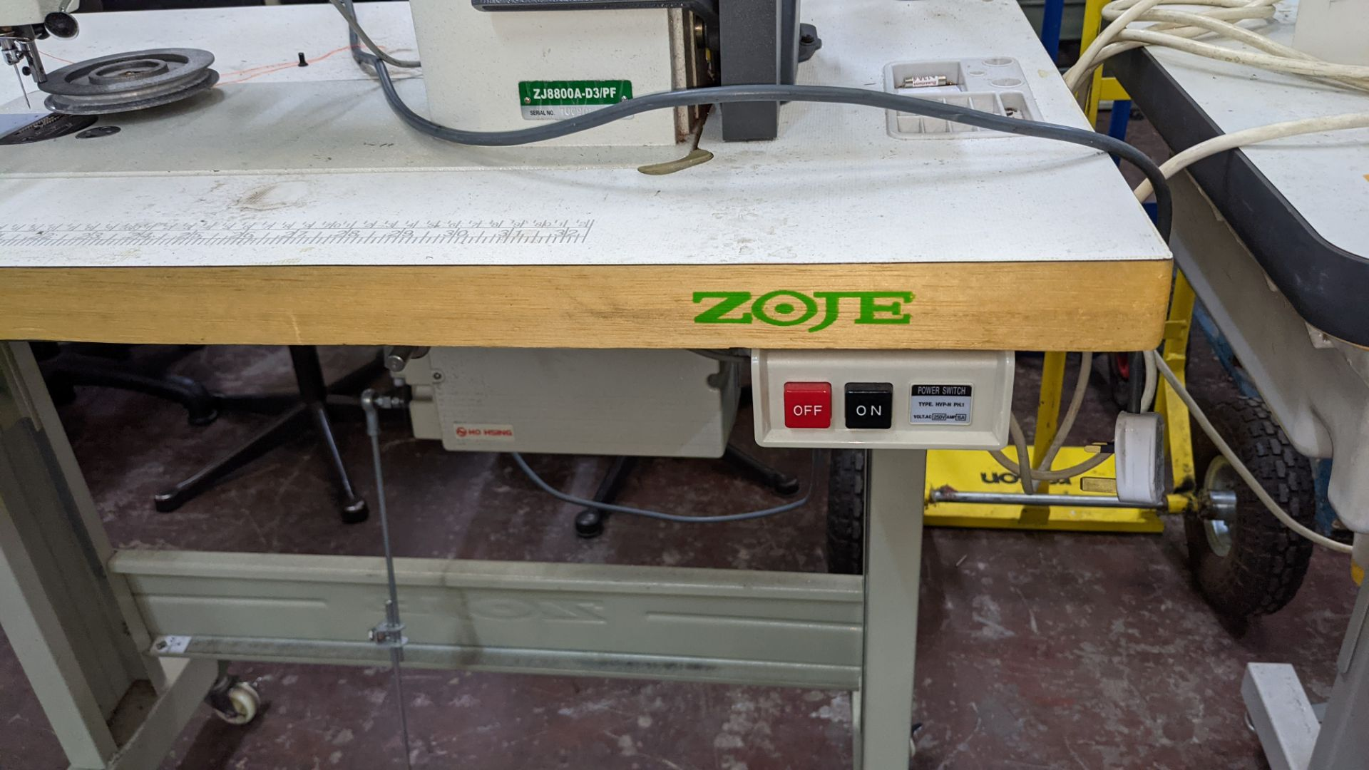 Zoje model ZJ8800A-D3B/PF sewing machine with C-200 controller - Image 14 of 16