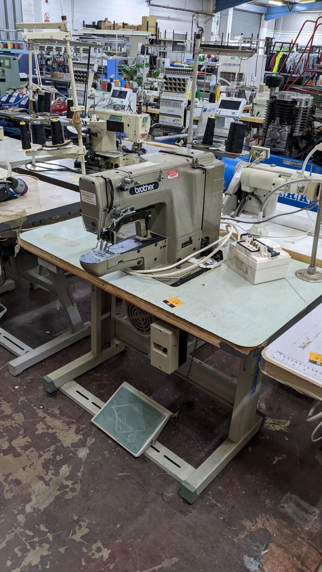 Brother bar tack sewing machine model LK3-B430-2 - Image 3 of 15