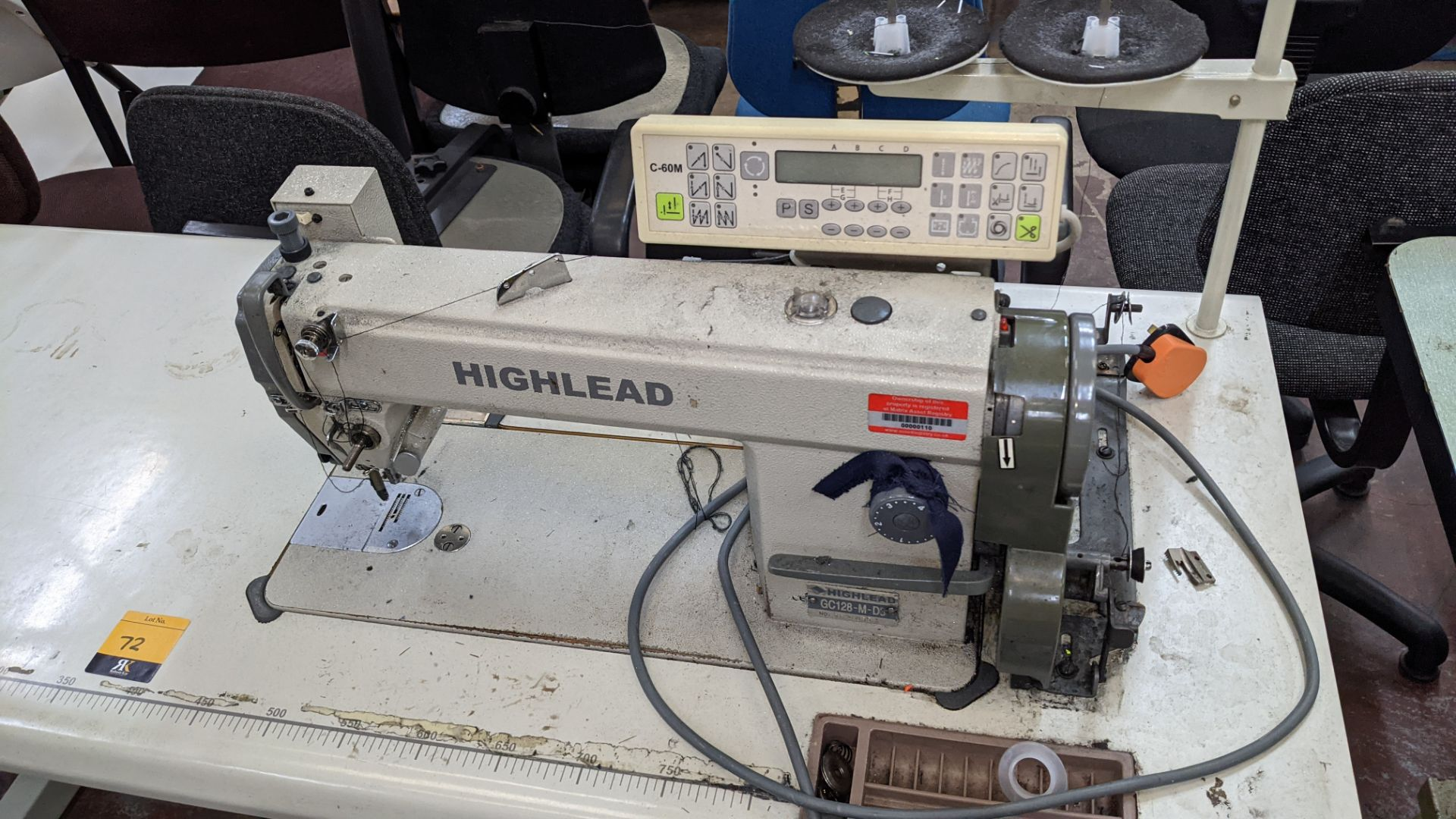 Highlead model GC128-M-D3 sewing machine with model C-60M digital controller - Image 5 of 14