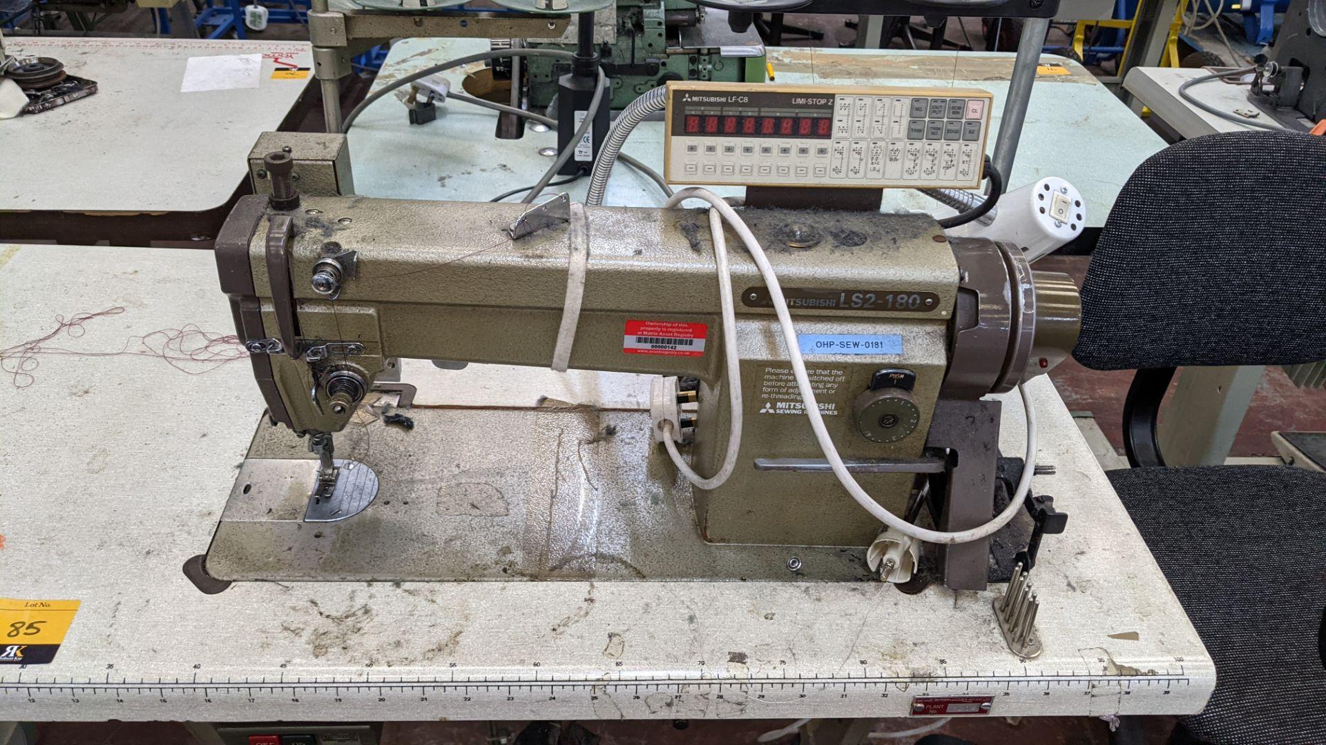 Mitsubishi LS2-180 sewing machine with Mitsubishi LF-C8 digital controller - Image 5 of 12