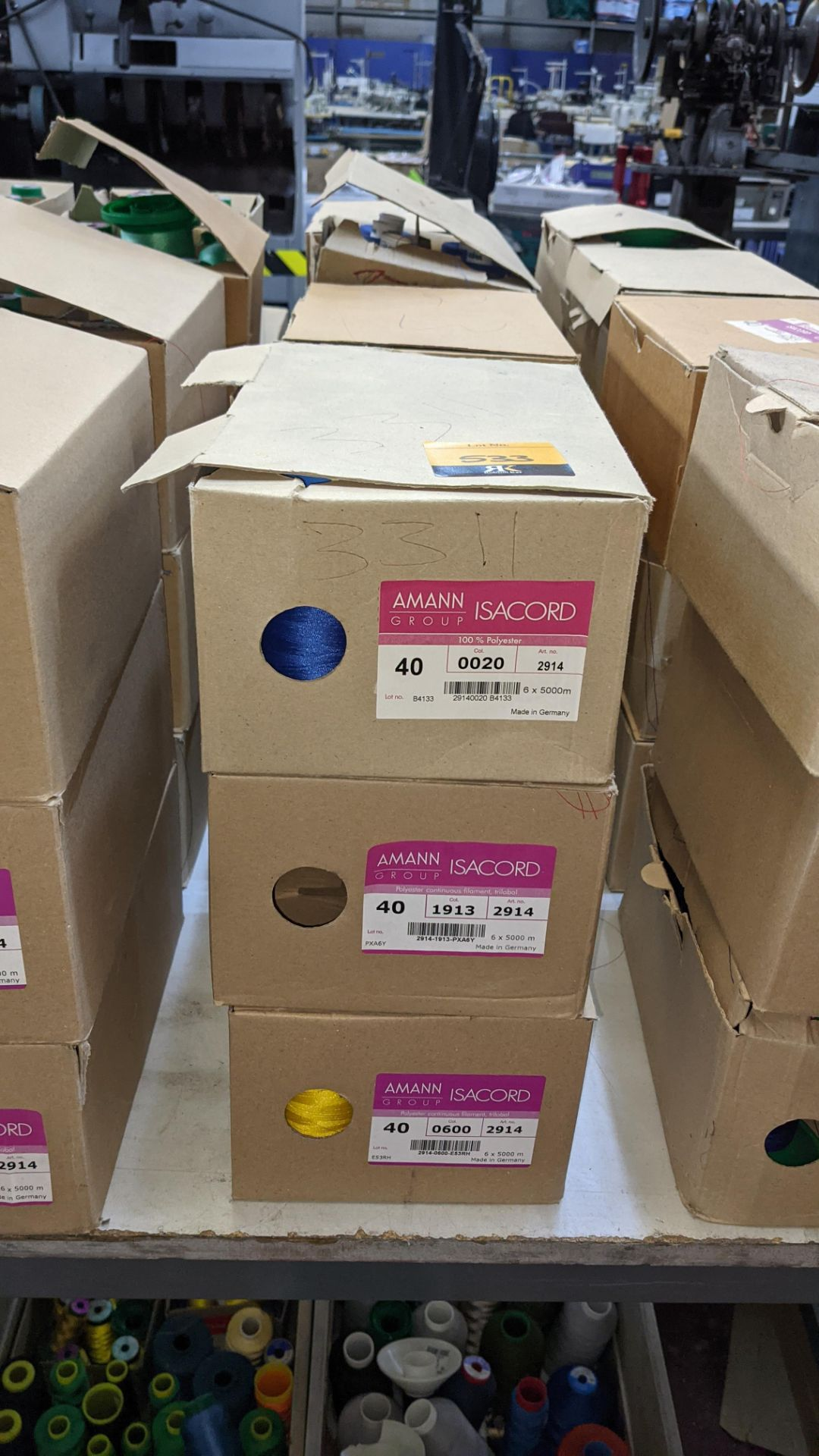 12 boxes of Ackermann Isacord (40) polyester thread - Image 3 of 7