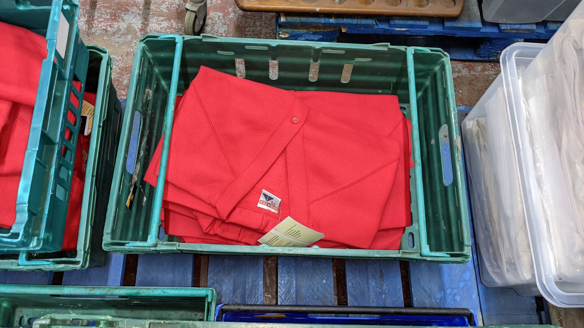 Approx 18 off Sportex children's assorted sweatshirts - the contents of 2 crates. NB crates exclude - Image 5 of 5