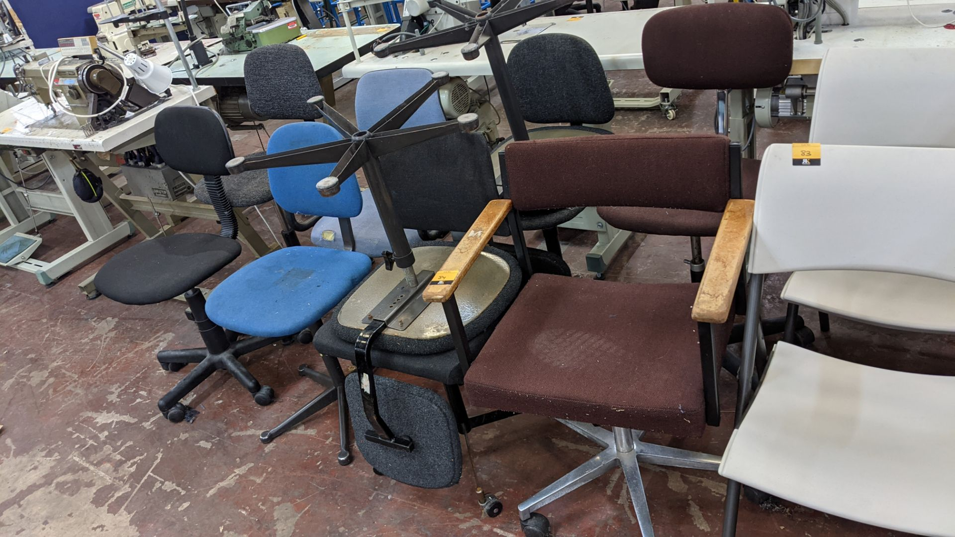 10 off assorted machinist & other chairs