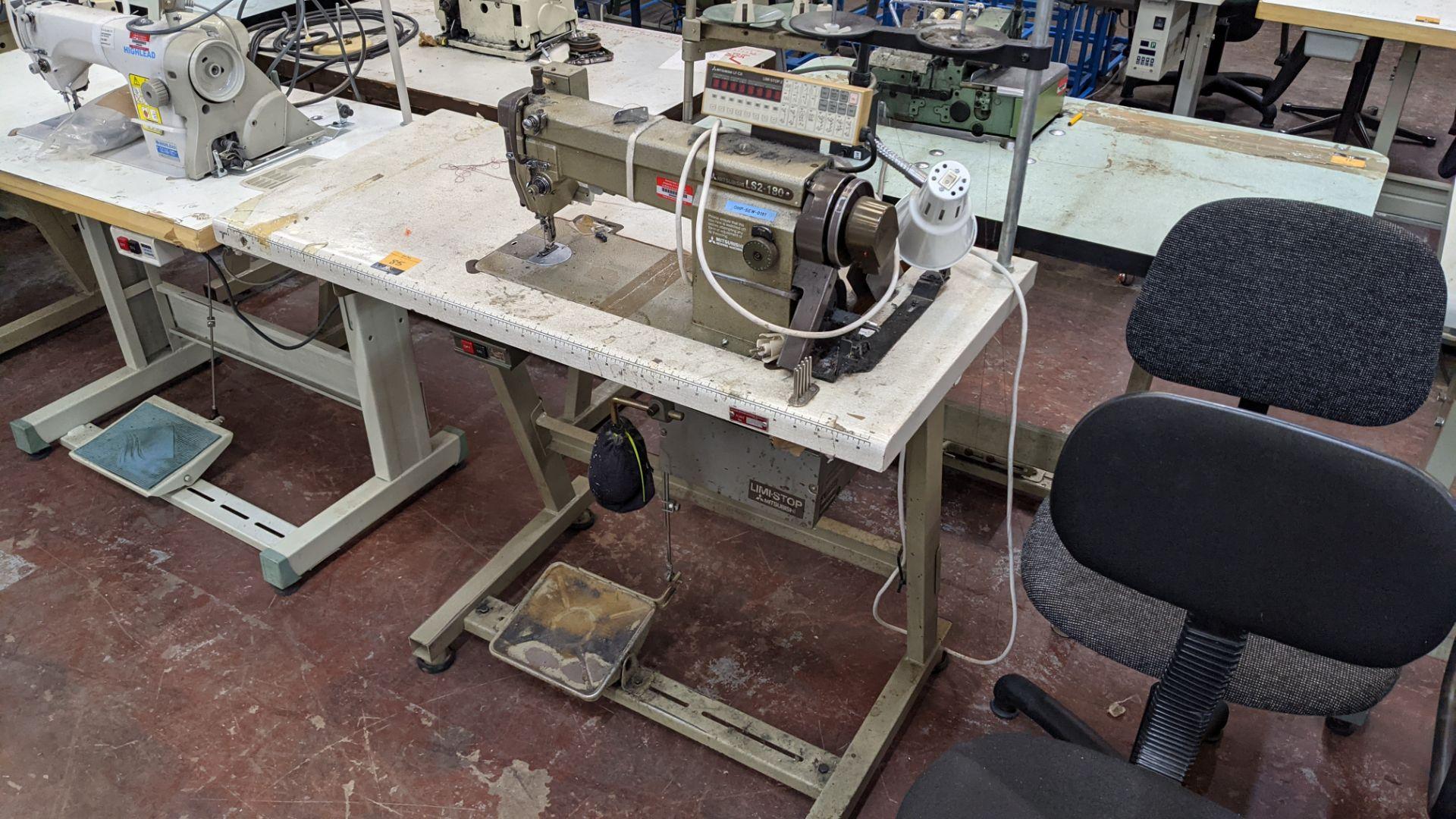 Mitsubishi LS2-180 sewing machine with Mitsubishi LF-C8 digital controller - Image 2 of 12