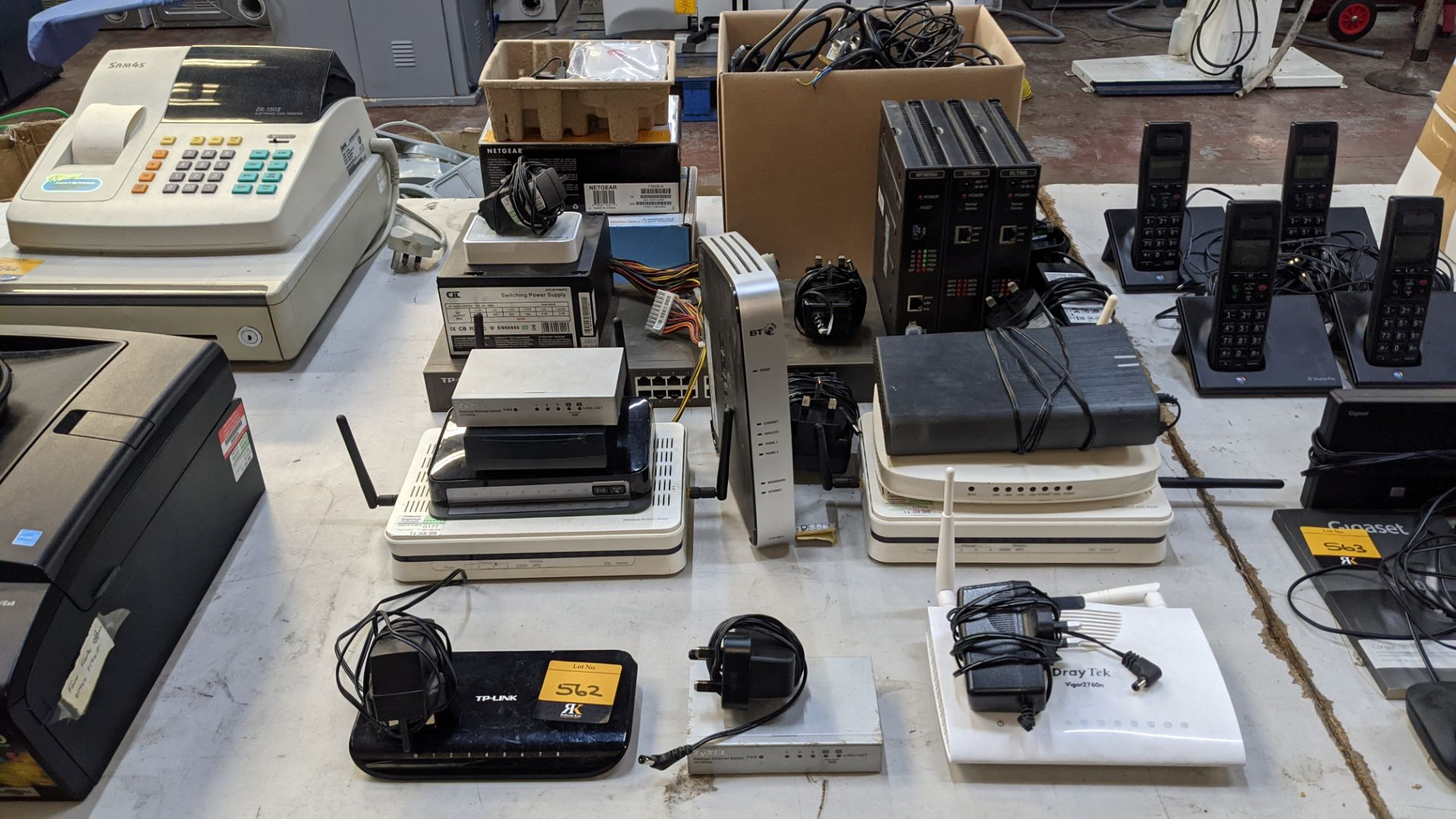 Very large quantity of assorted switches, hubs & other networking devices as pictured