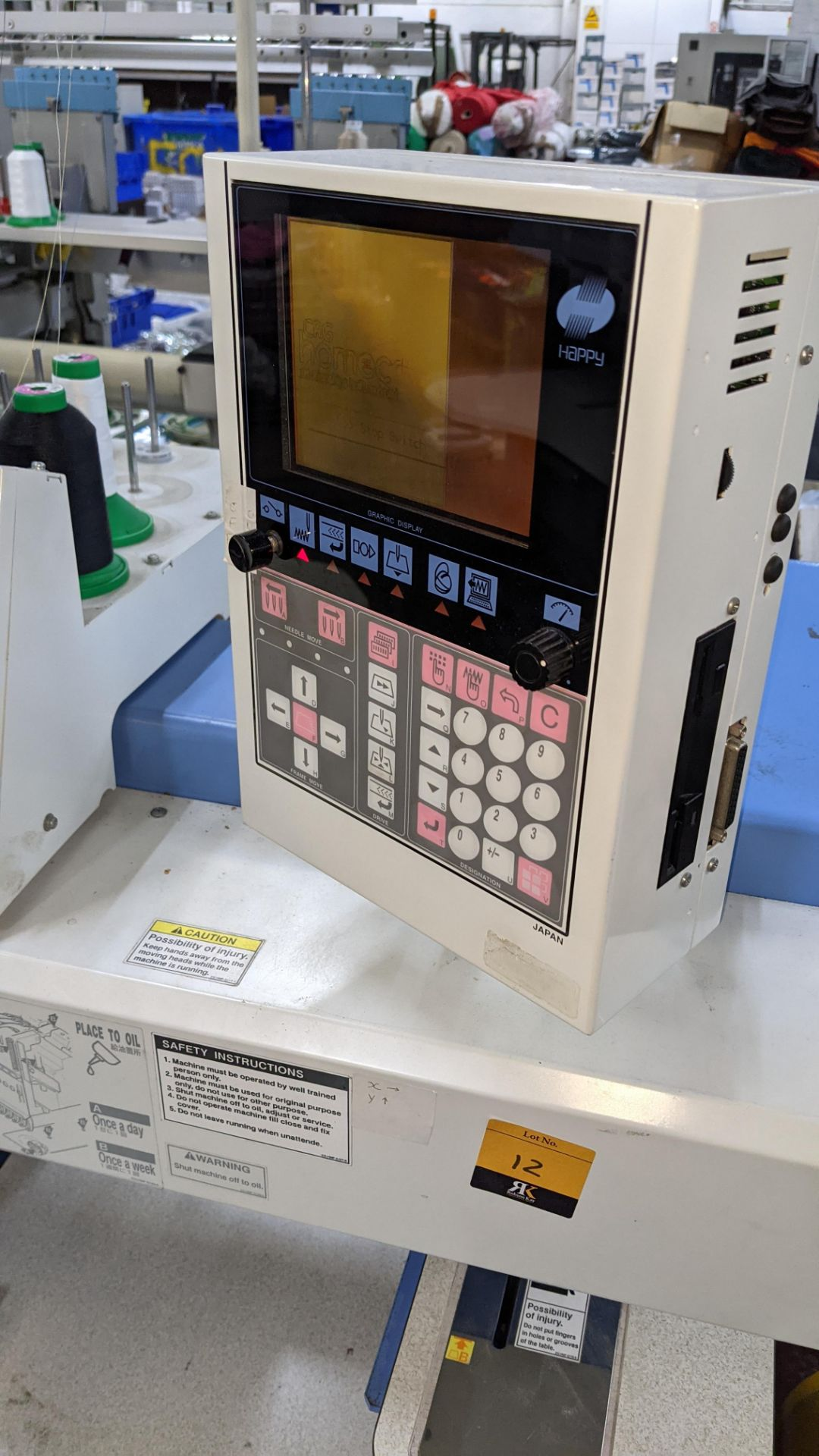 Happy 8 head embroidery machine, model HCG-1508B-45TTC, 15 needles per head, including frames & othe - Image 27 of 32