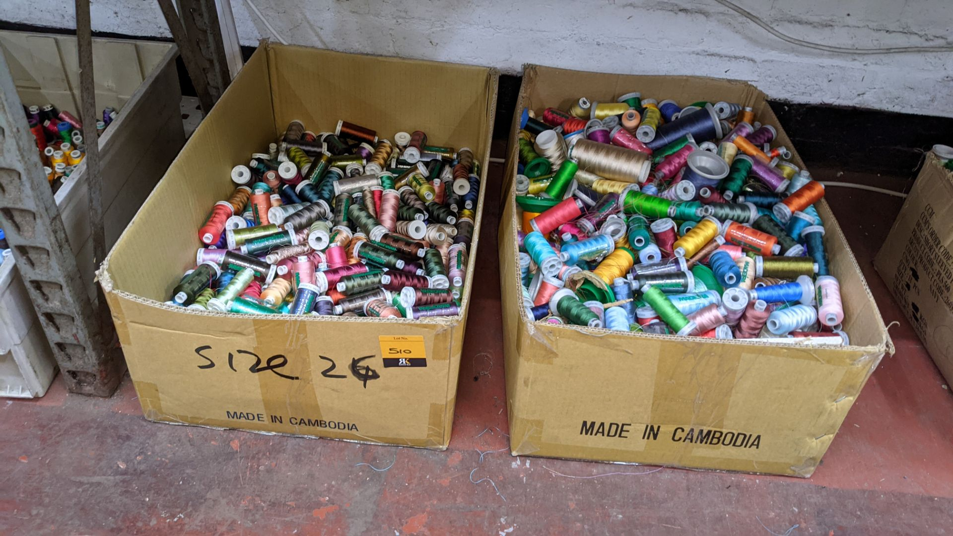 2 large boxes of assorted thread - Image 2 of 5