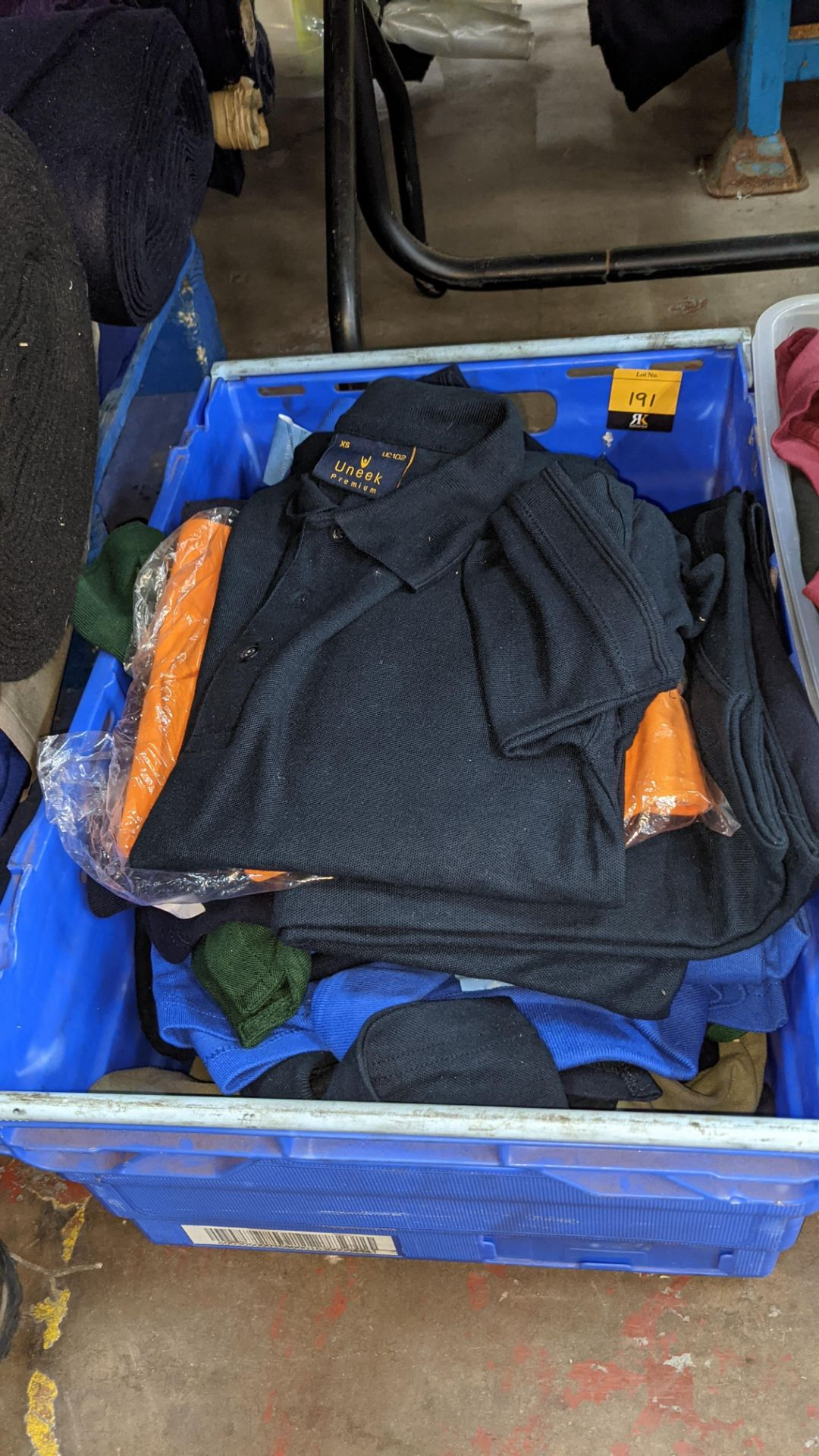 Approx 23 off Uneek assorted blue polo shirts - Image 2 of 6