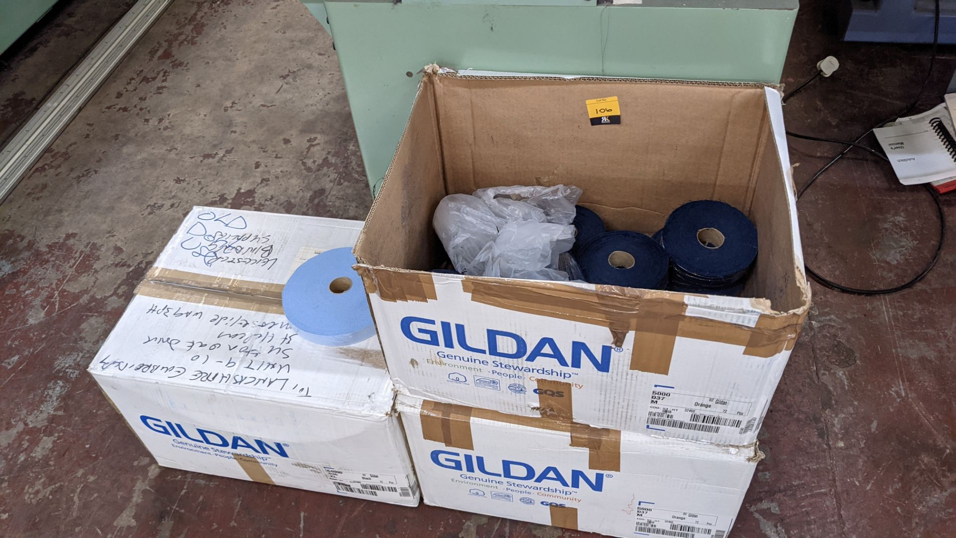 3 boxes/part boxes of blue fabric tape - Image 2 of 6