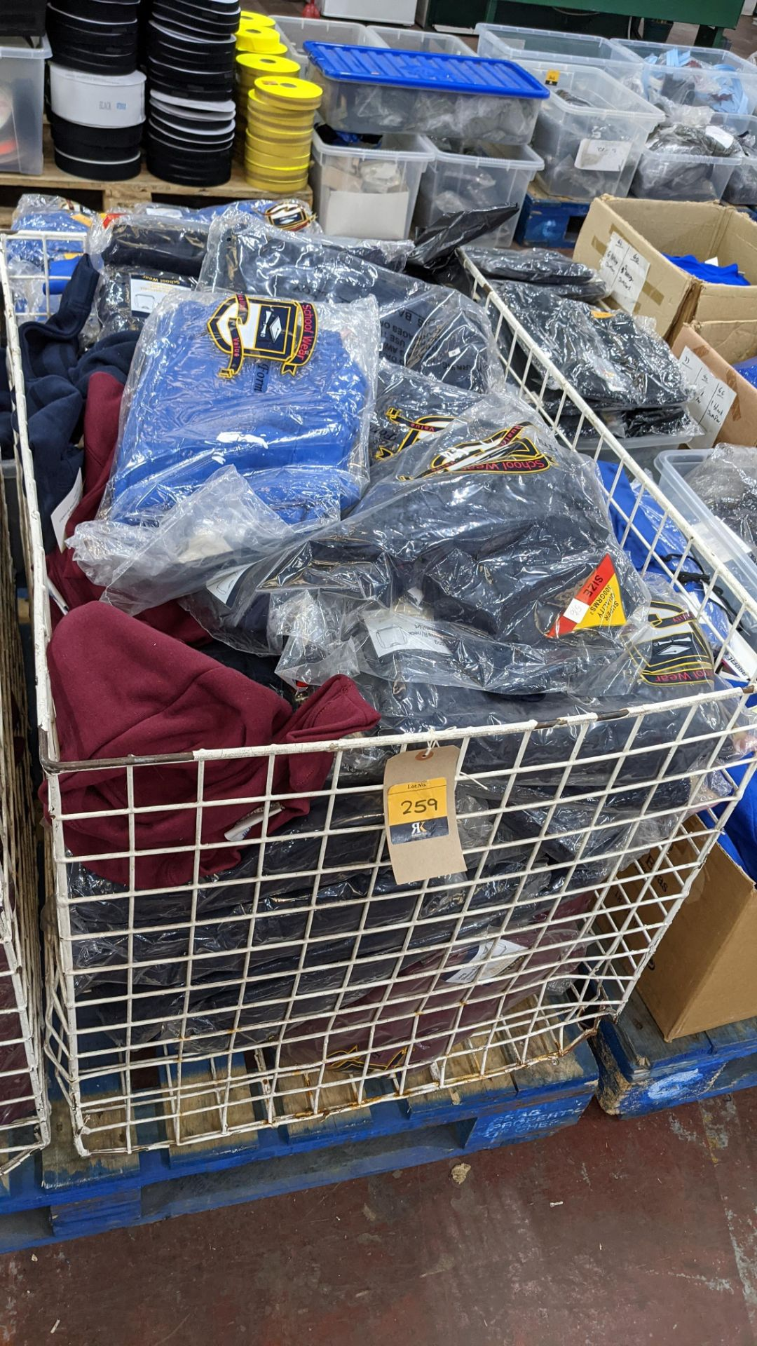 Large quantity of assorted children's sweatshirts - the contents of 1 large cage. NB cage excluded