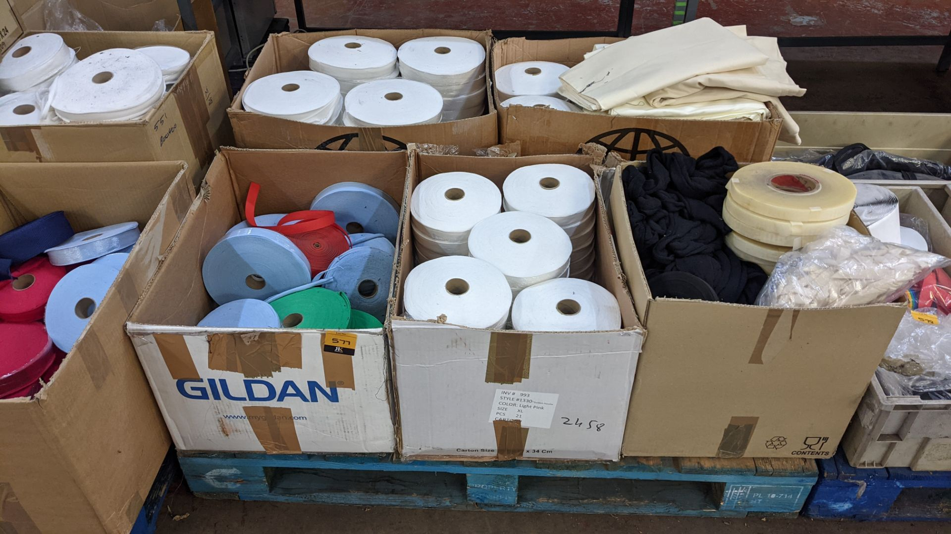 5 boxes of assorted tape & other materials - Image 2 of 5