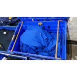 Approx 30 off royal blue polo shirts (2 crates)