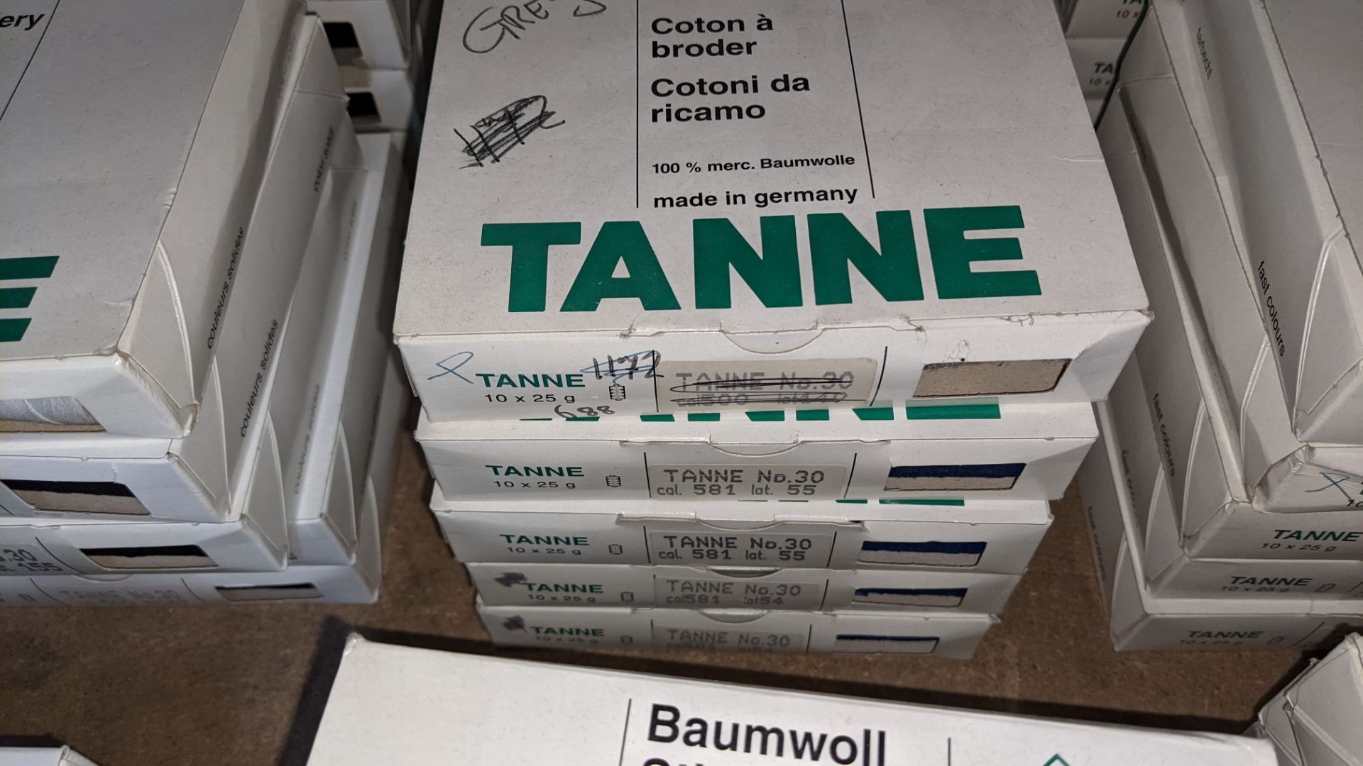 15 boxes of Madeira Tanne (Burmit) cotton embroidery thread - Image 4 of 8