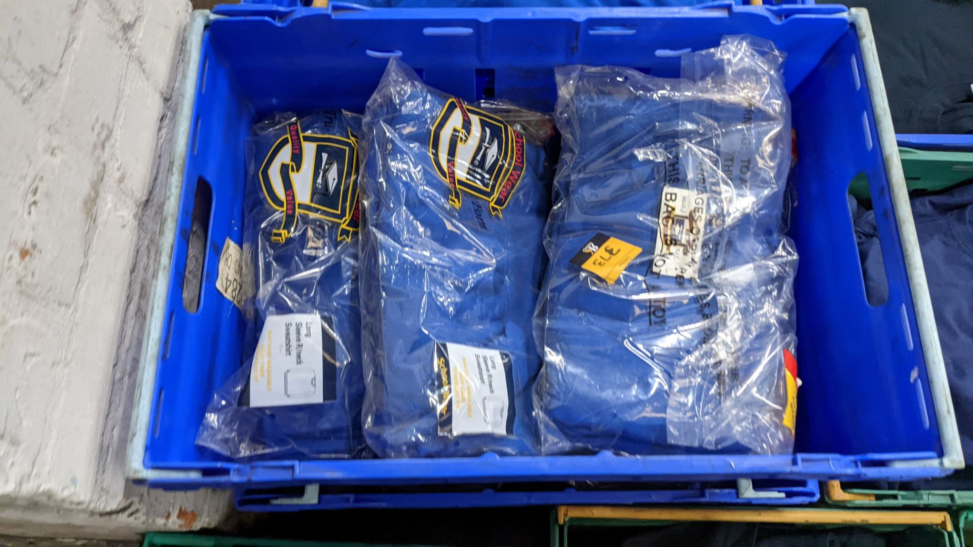 Approx 29 off royal blue children's sweatshirts (2 crates) - Image 3 of 4