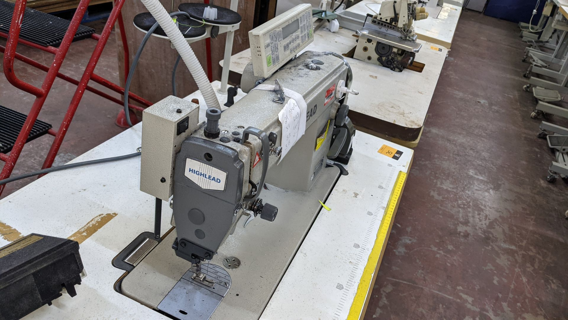 Highlead model GC128-M-D3 sewing machine with model C-60M digital controller - Image 10 of 17