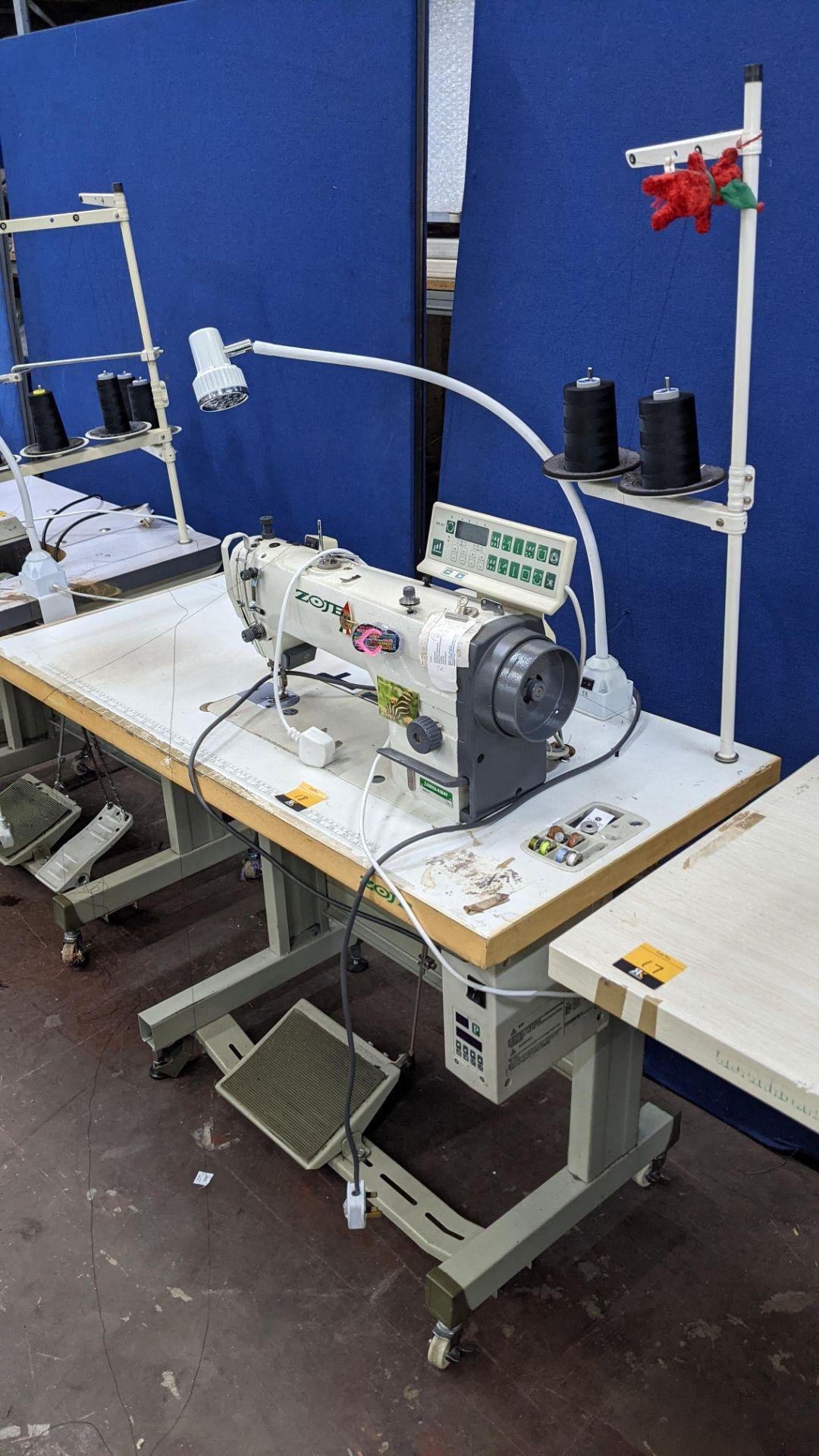 Zoje model ZJ9800A-D3B/PF lockstitch sewing machine with model WR-501 digital controller