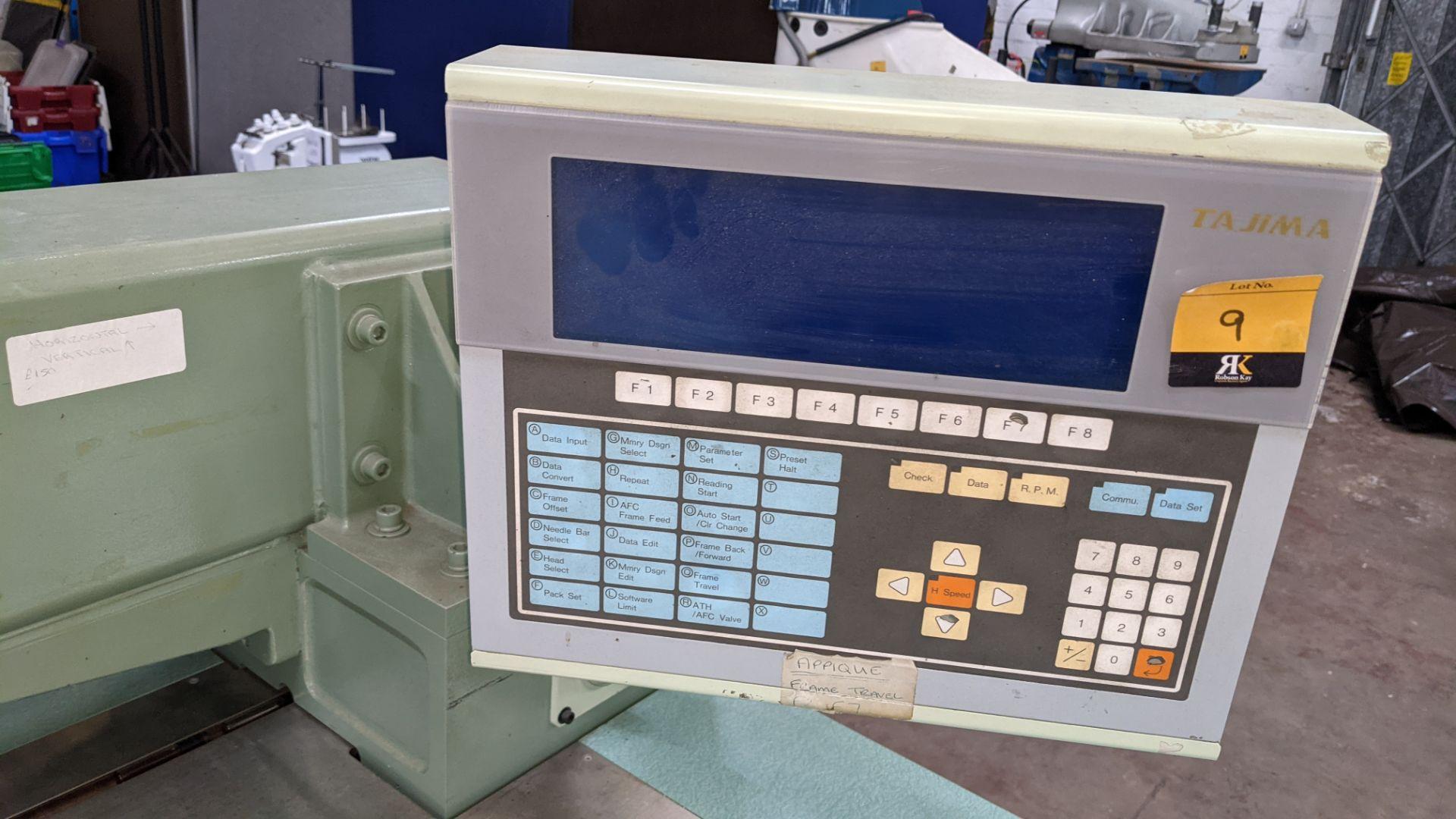 Tokai Tajima electronic 20 head automatic embroidery machine model TMEG-G620, manufacturing number 7 - Image 17 of 19