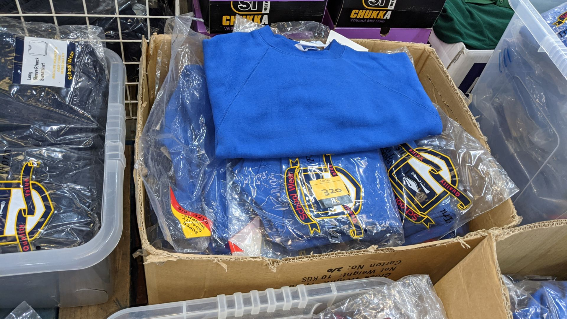 Approx 25 off blue children's sweatshirts & similar - the contents of 1 box