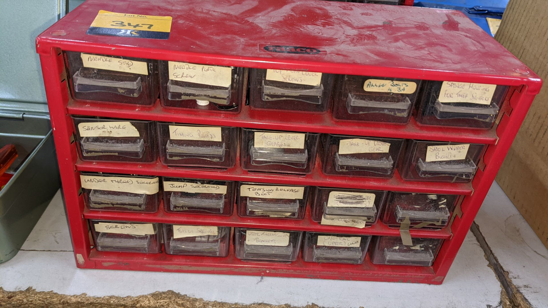 4 off mini cabinets & their contents of machinery parts & spares - Image 3 of 12