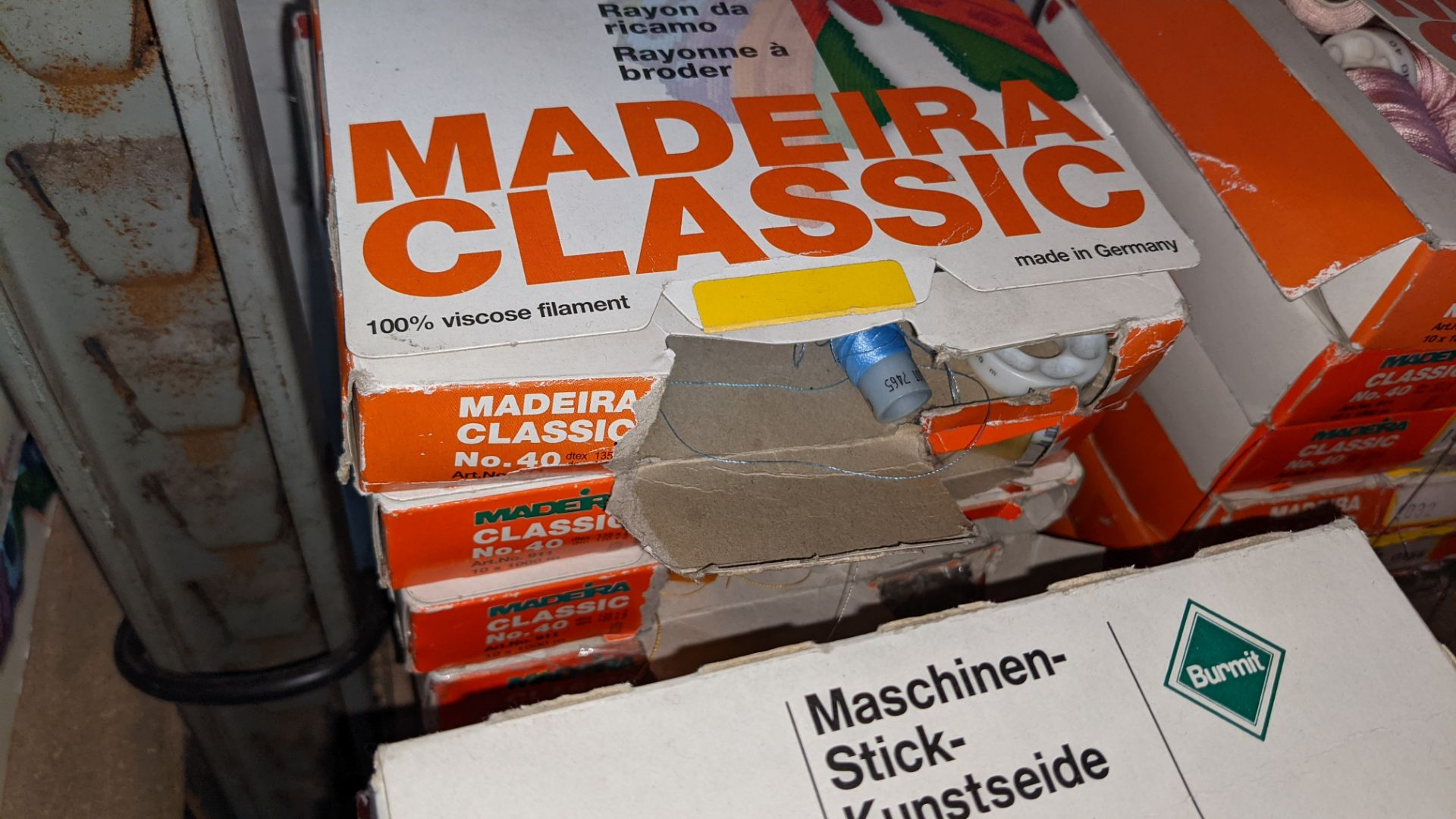 18 assorted boxes of Madeira Classic No. 40 embroidery rayon thread - Image 5 of 8