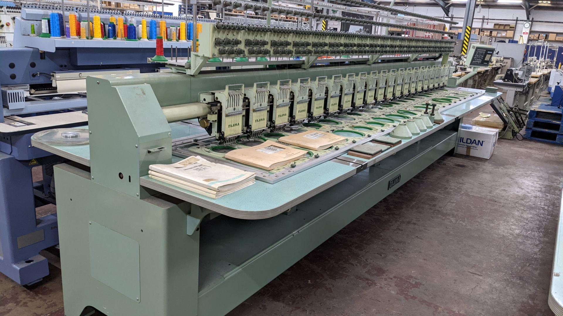 Tokai Tajima electronic 20 head automatic embroidery machine model TMEF-H620 - Image 13 of 25