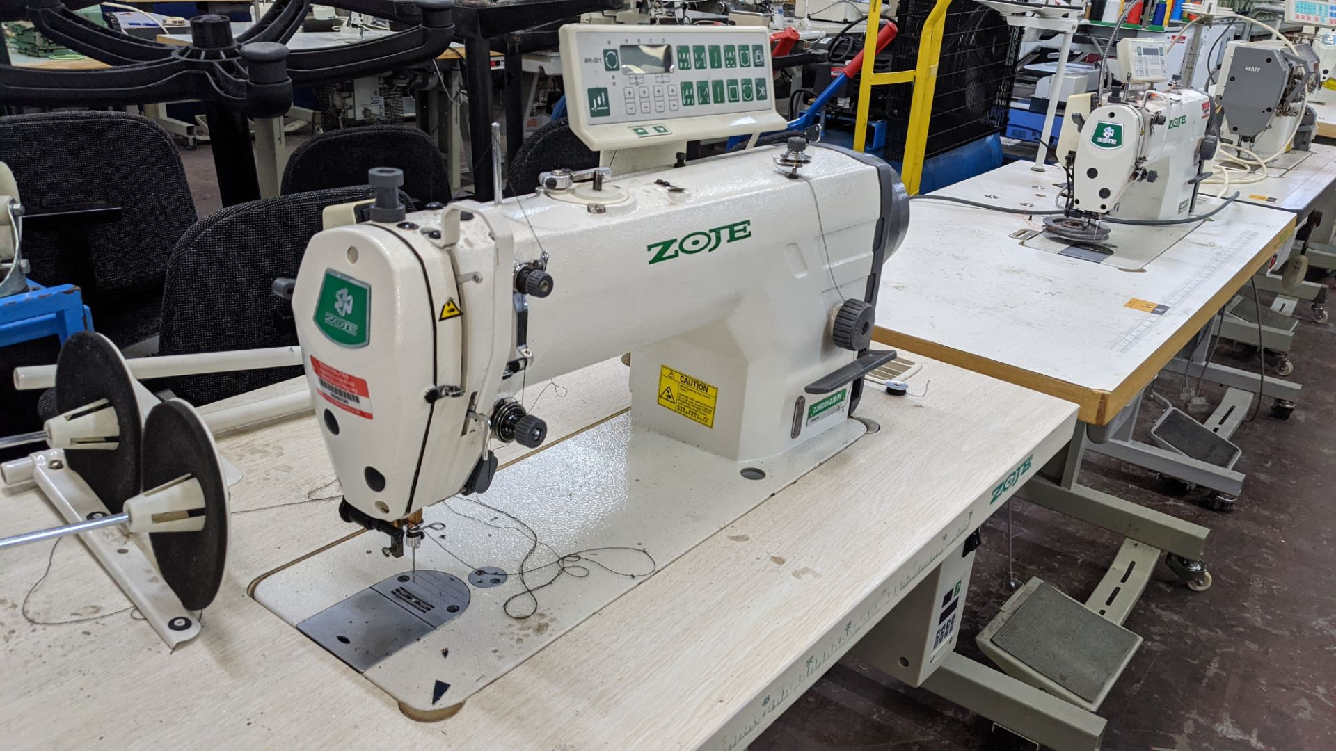 Zoje model ZJ9800A-D3B/PF sewing machine with WR-501 controller - Image 10 of 17