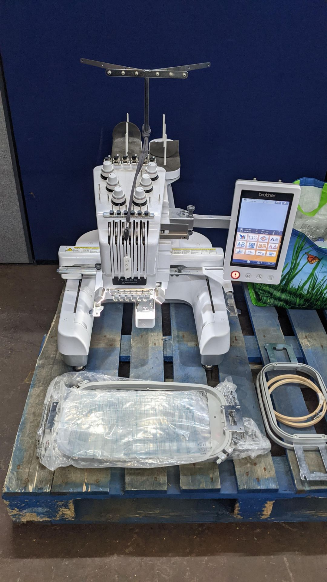 Brother PR655 single head 6 needle embroidery machine, serial no. E72364-D6B113501 incorporating lar - Image 7 of 25
