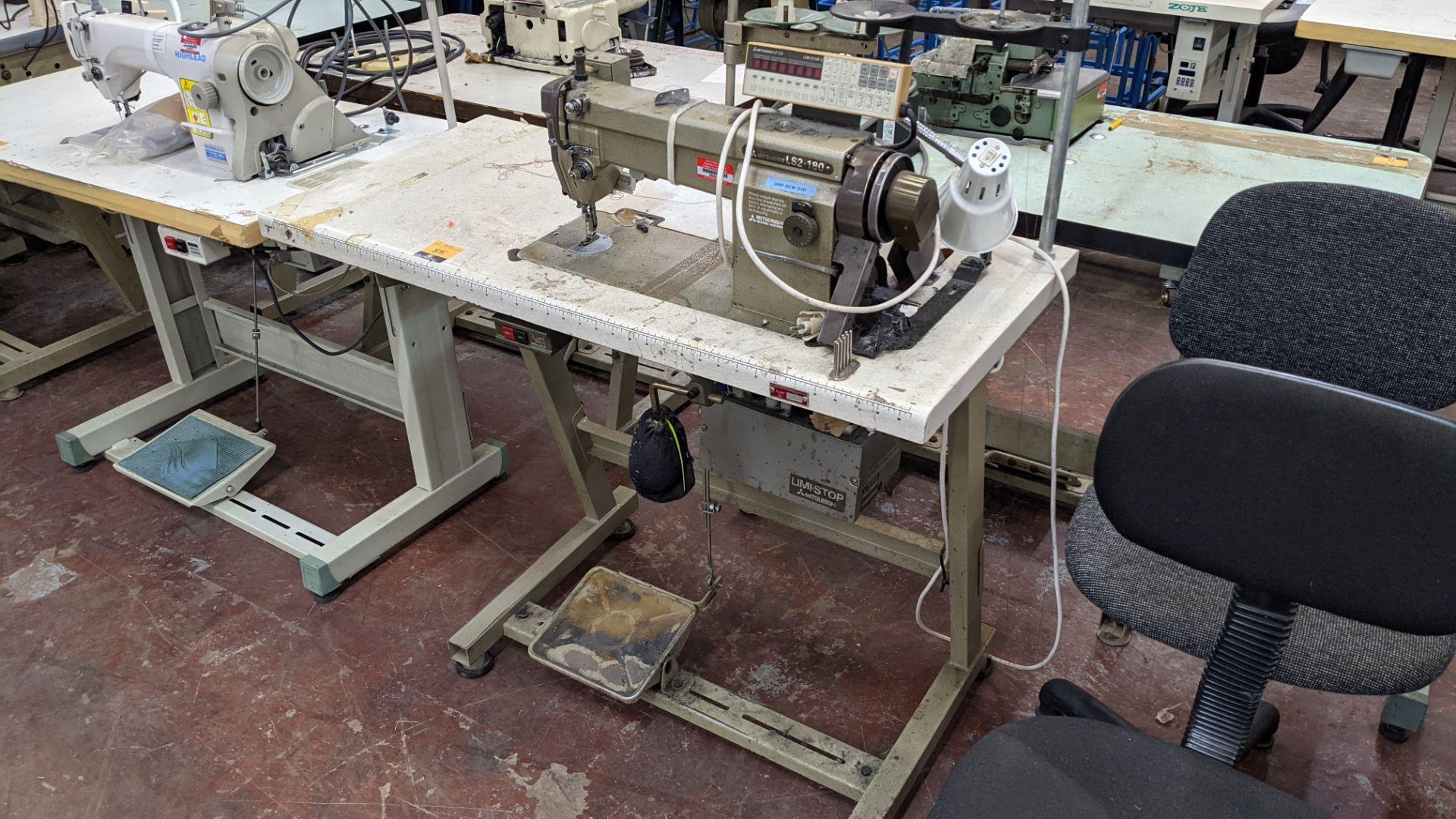 Mitsubishi LS2-180 sewing machine with Mitsubishi LF-C8 digital controller