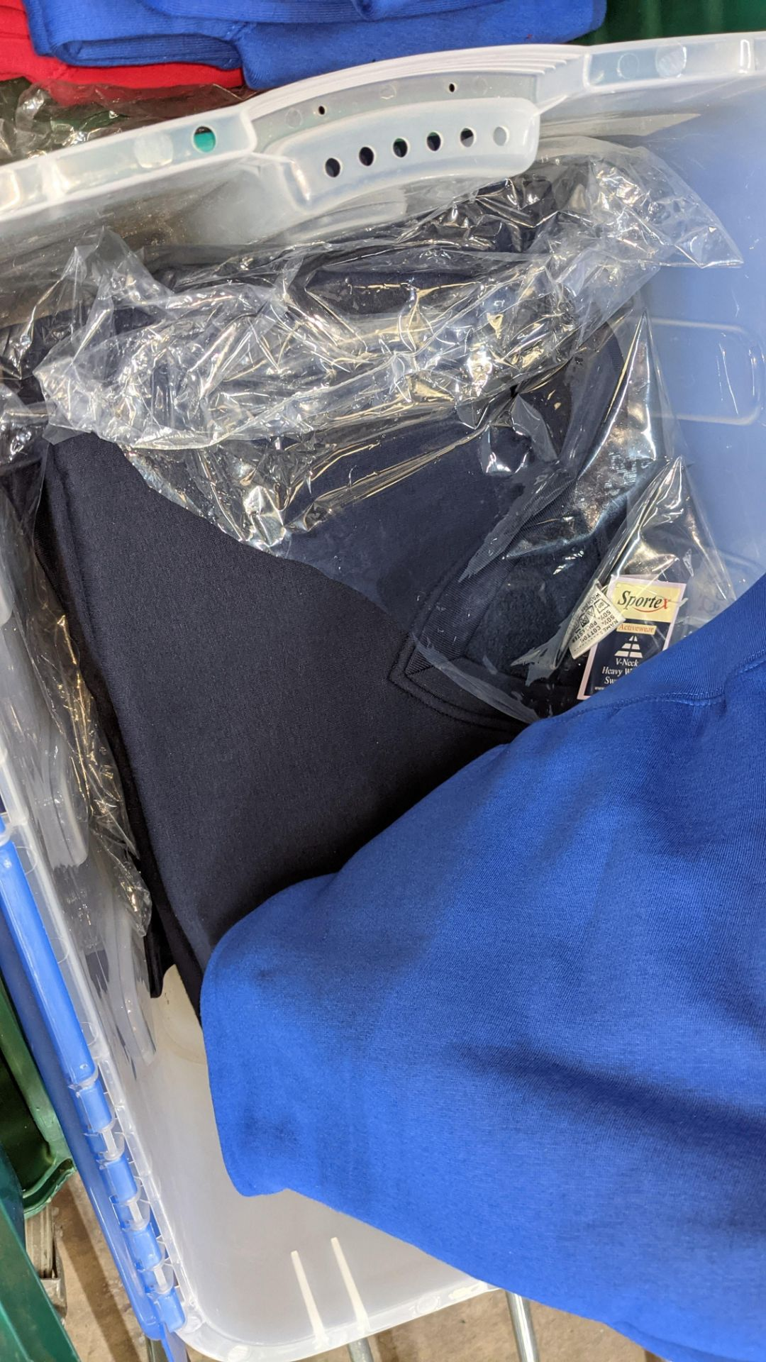 Approx 16 off Sportex children's assorted sweatshirts - the contents of 2 crates. NB crates exclude - Image 7 of 7
