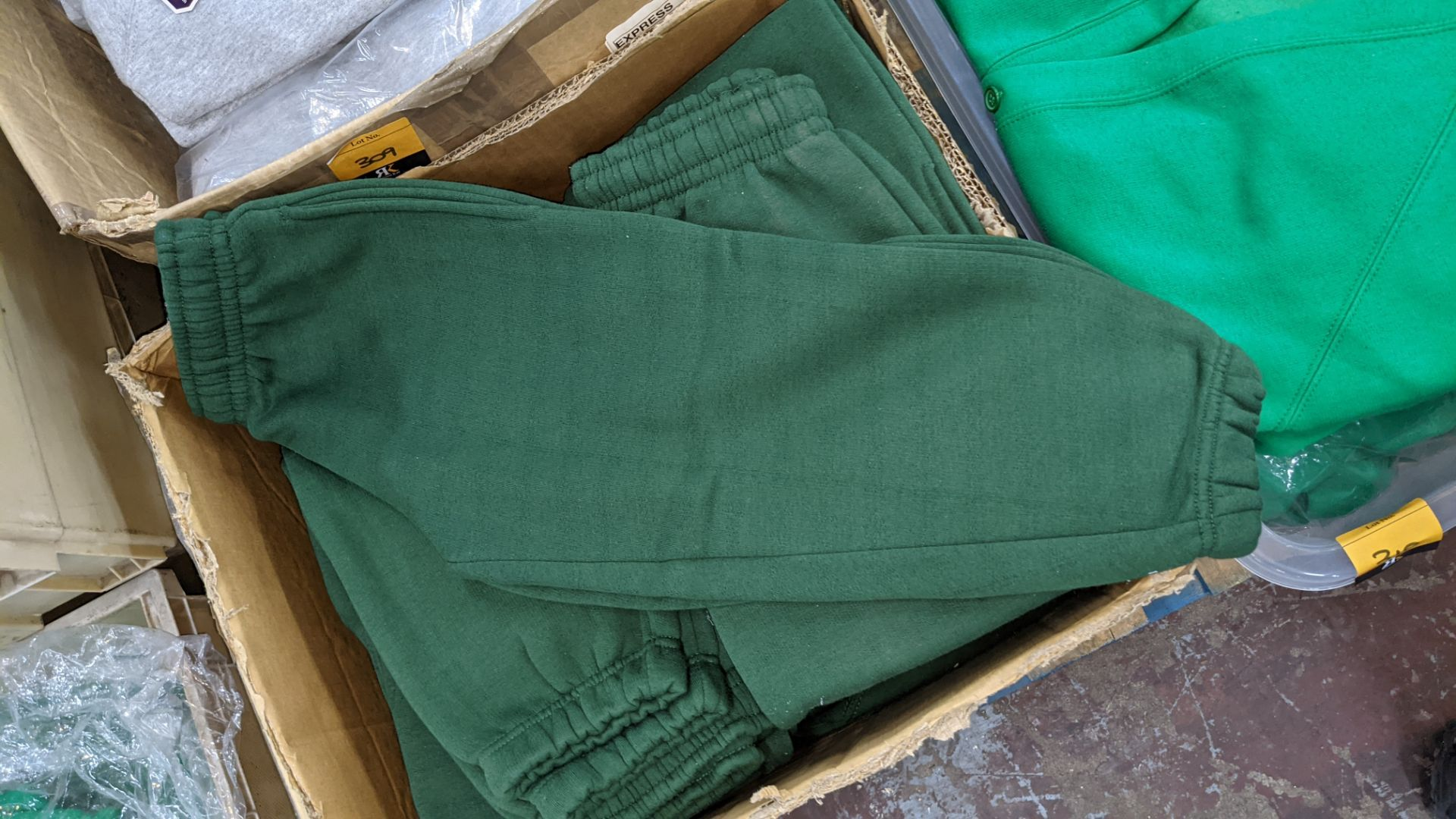 Box of green children's tracksuit bottoms - Image 3 of 3