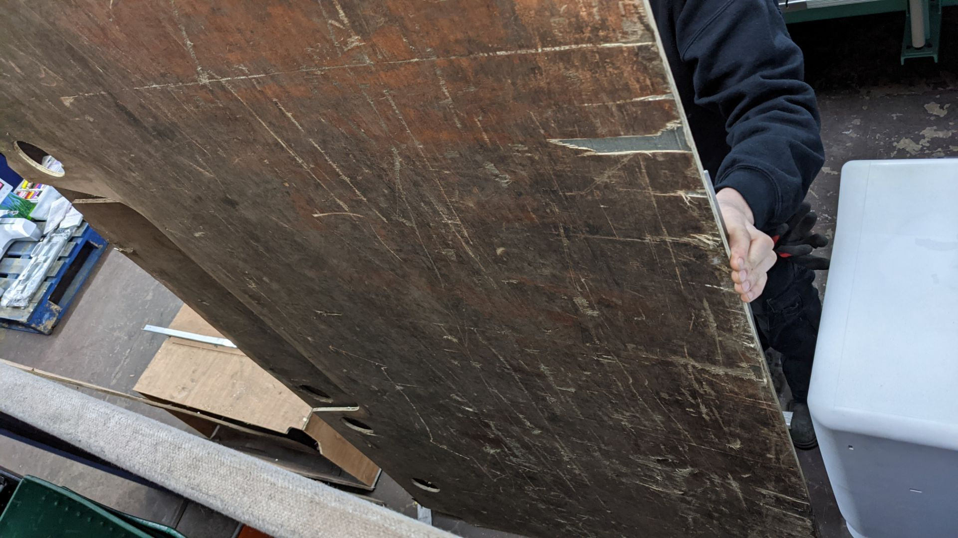 Floor ply lining as fitted to Peugeot Boxer L4 panel van - Image 7 of 8