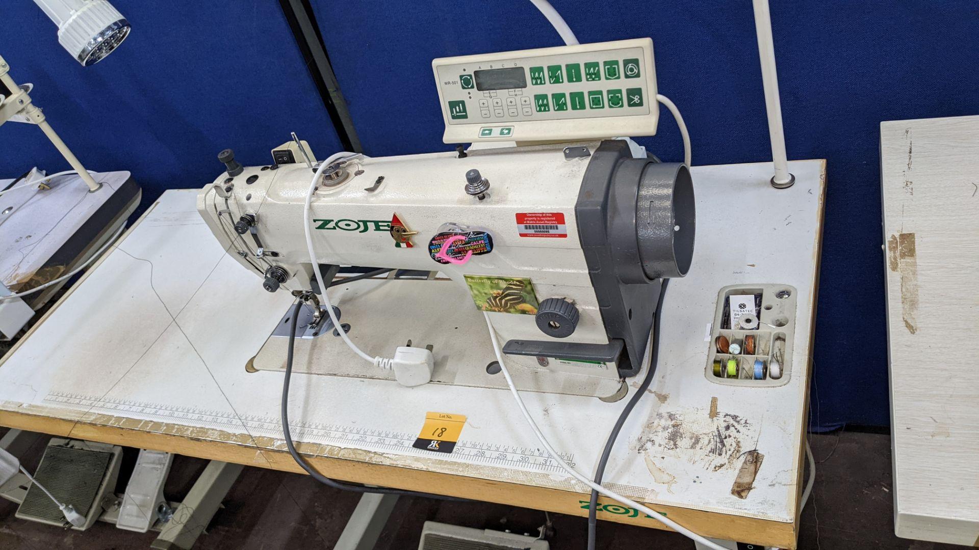 Zoje model ZJ9800A-D3B/PF lockstitch sewing machine with model WR-501 digital controller - Image 16 of 20
