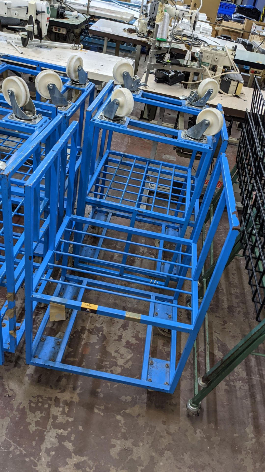 7 off blue mobile trollies - Image 2 of 6