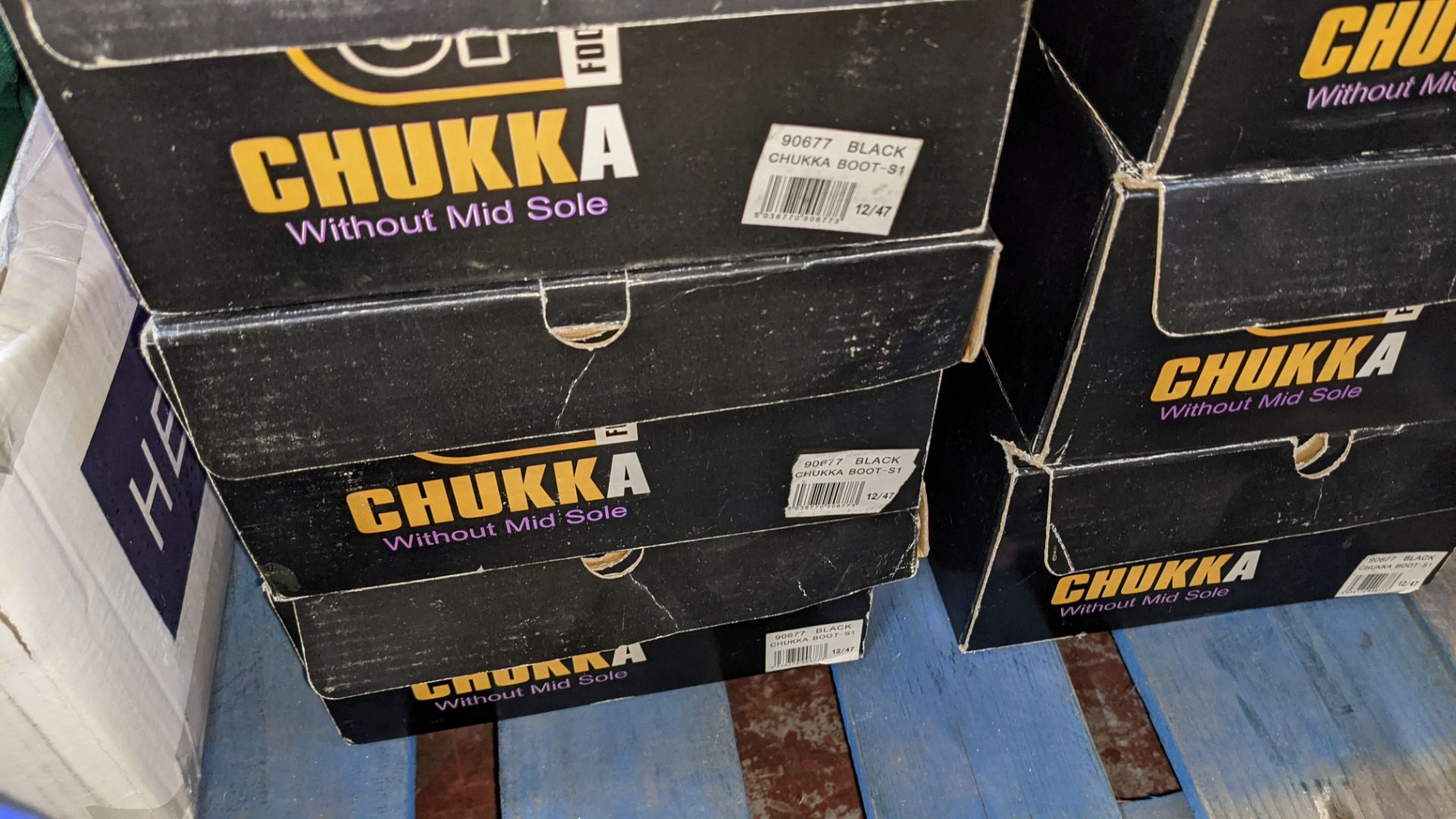 6 pairs of Chukka protective work boots - Image 5 of 6