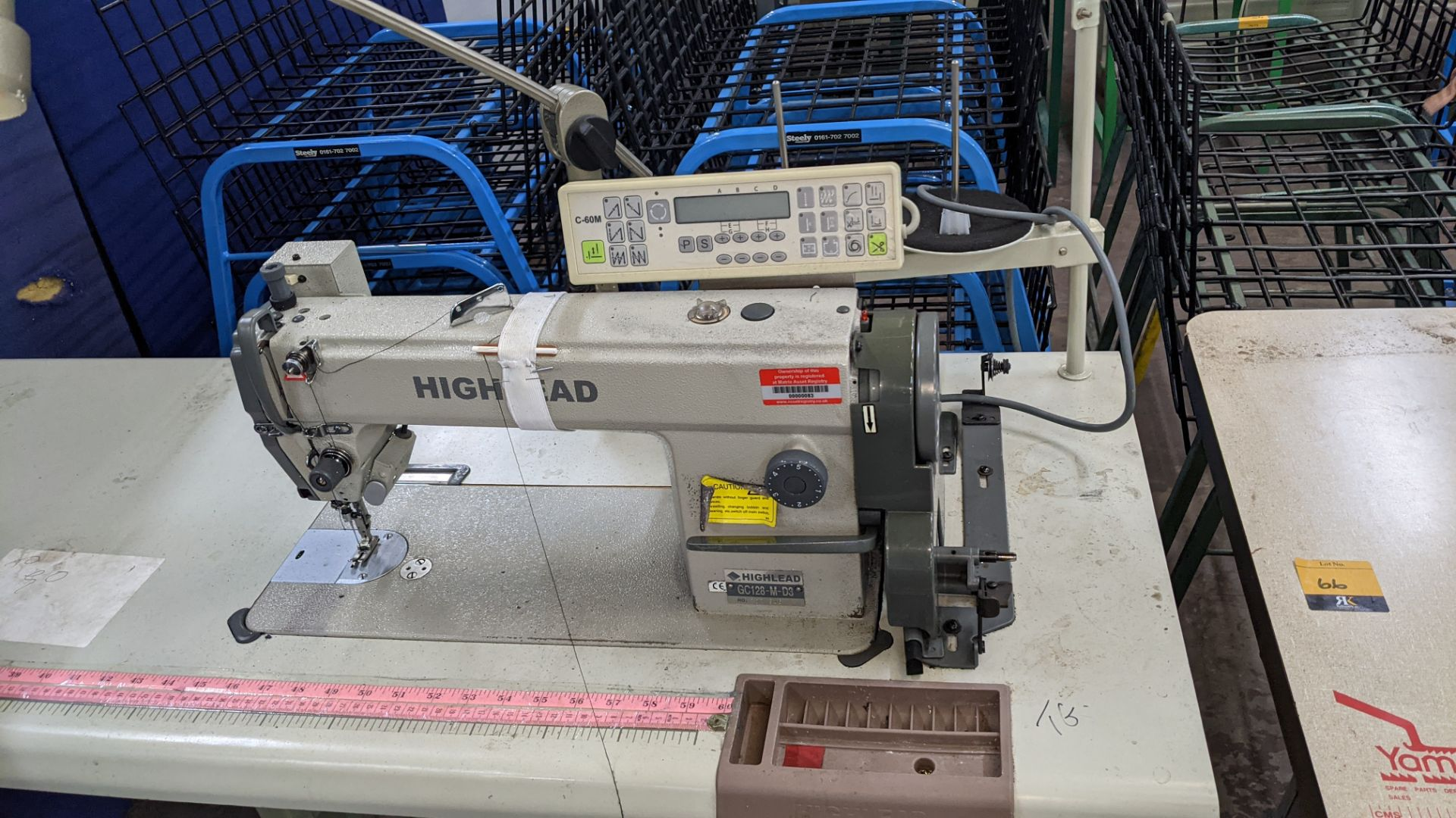 Highlead model GC128-M-D3 sewing machine with model C-60M digital controller - Image 5 of 18