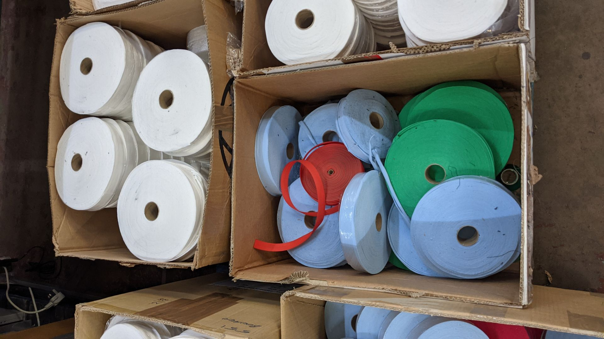 5 boxes of assorted tape & other materials - Image 3 of 5