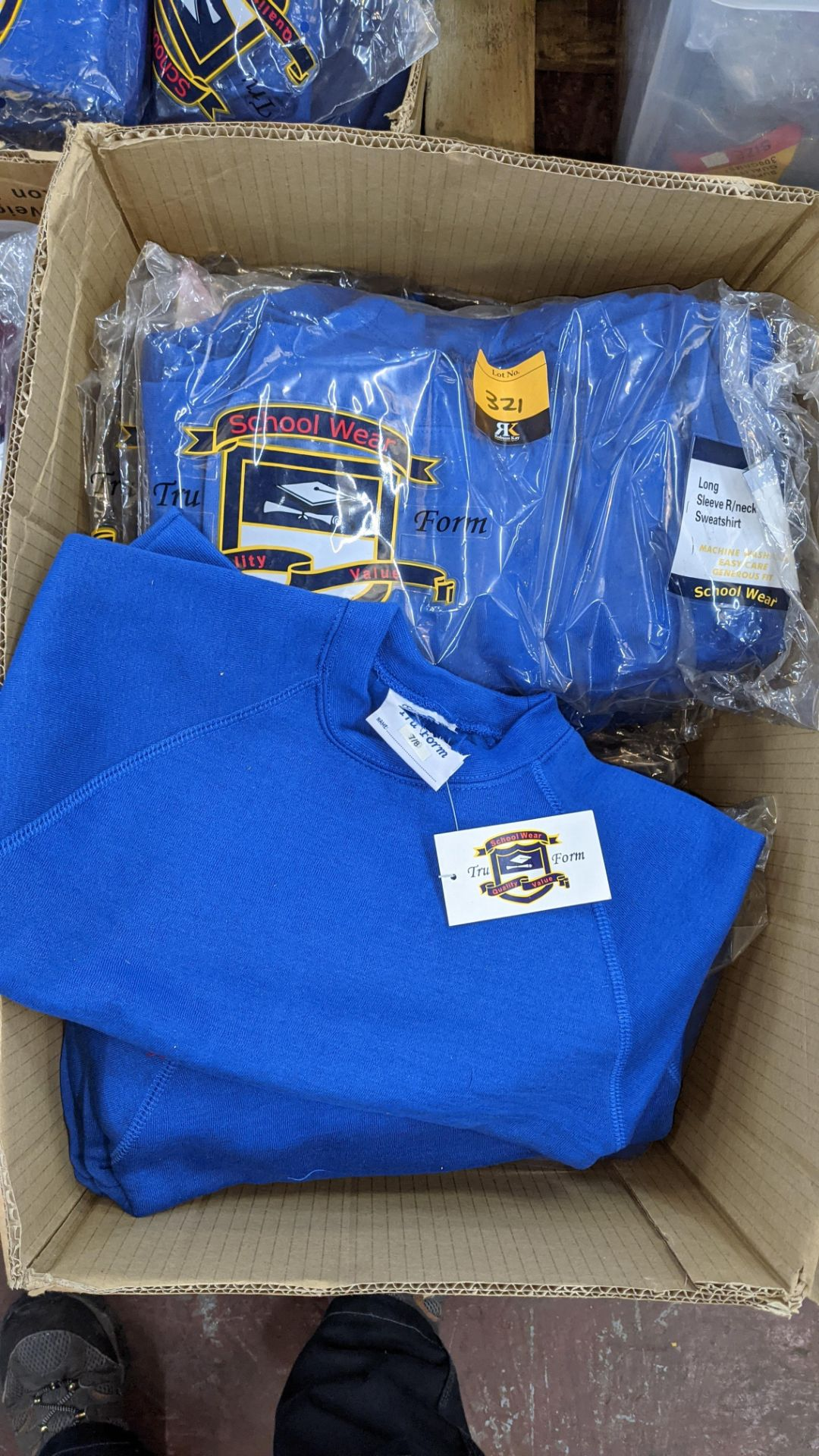 Approx 29 off blue children's sweatshirts & similar - the contents of 1 box - Image 3 of 4