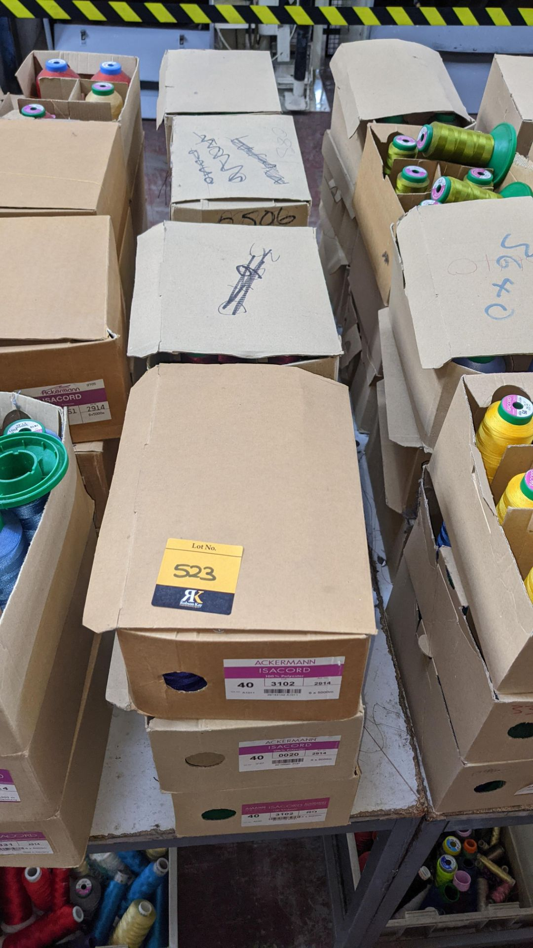 12 boxes of Ackermann Isacord (40) polyester thread - Image 2 of 9